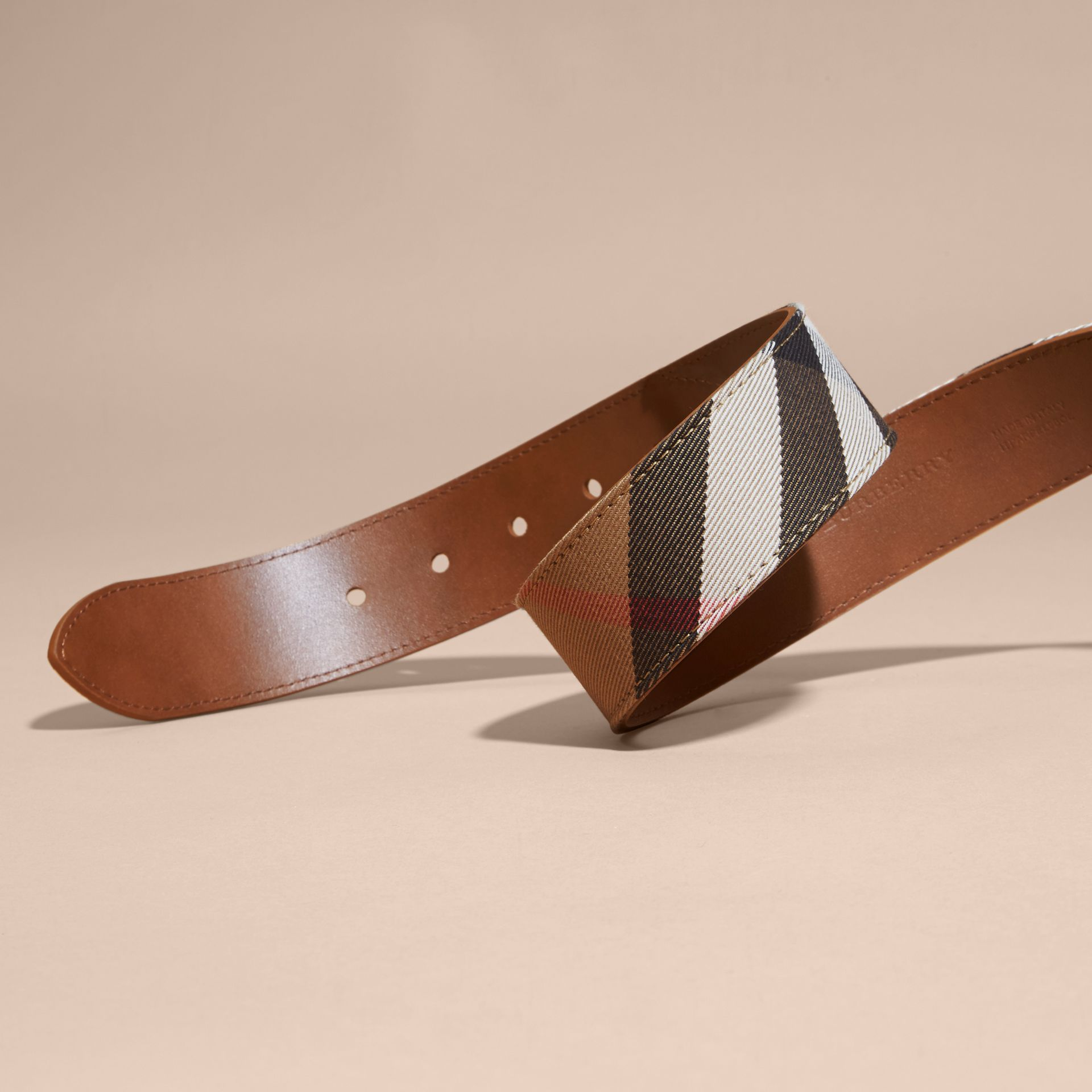 House Check and Leather Belt Russet - gallery image 2