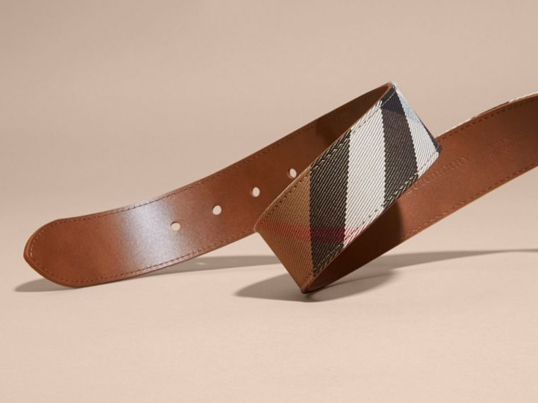 House Check and Leather Belt Russet - cell image 1