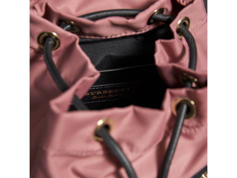 The Small Rucksack in Technical Nylon and Leather in Mauve Pink - Women | Burberry - cell image 4