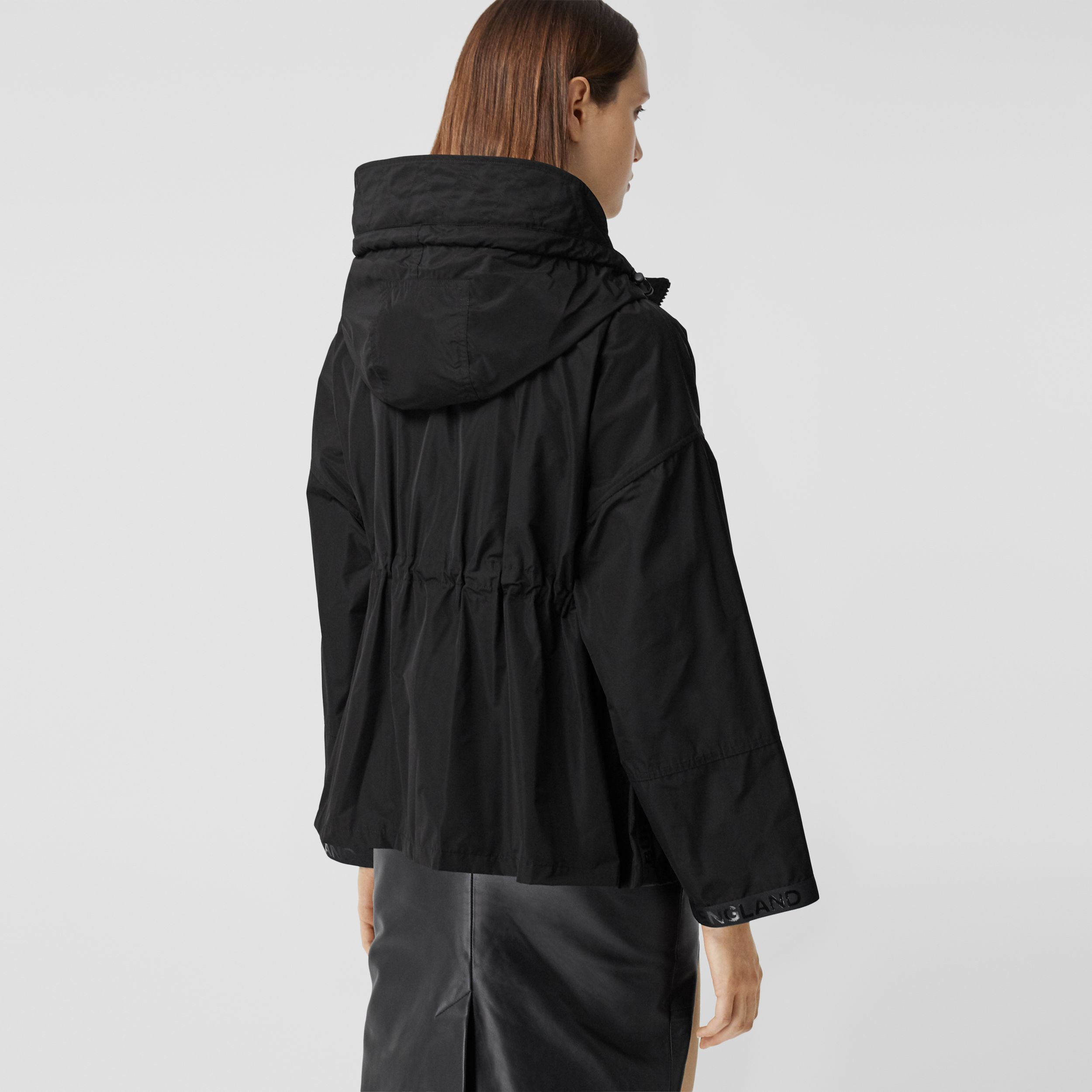 Logo Tape Shape-memory Taffeta Hooded Jacket - Women | Burberry Australia - 3