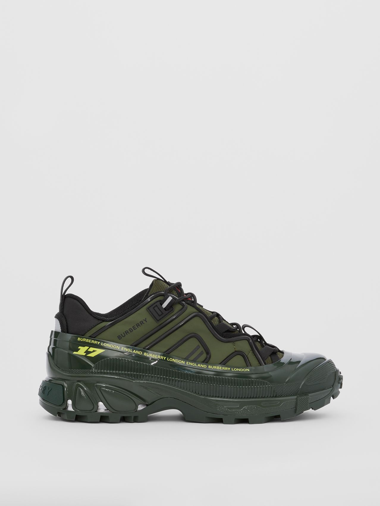 Nylon and Suede Arthur Sneakers in Green