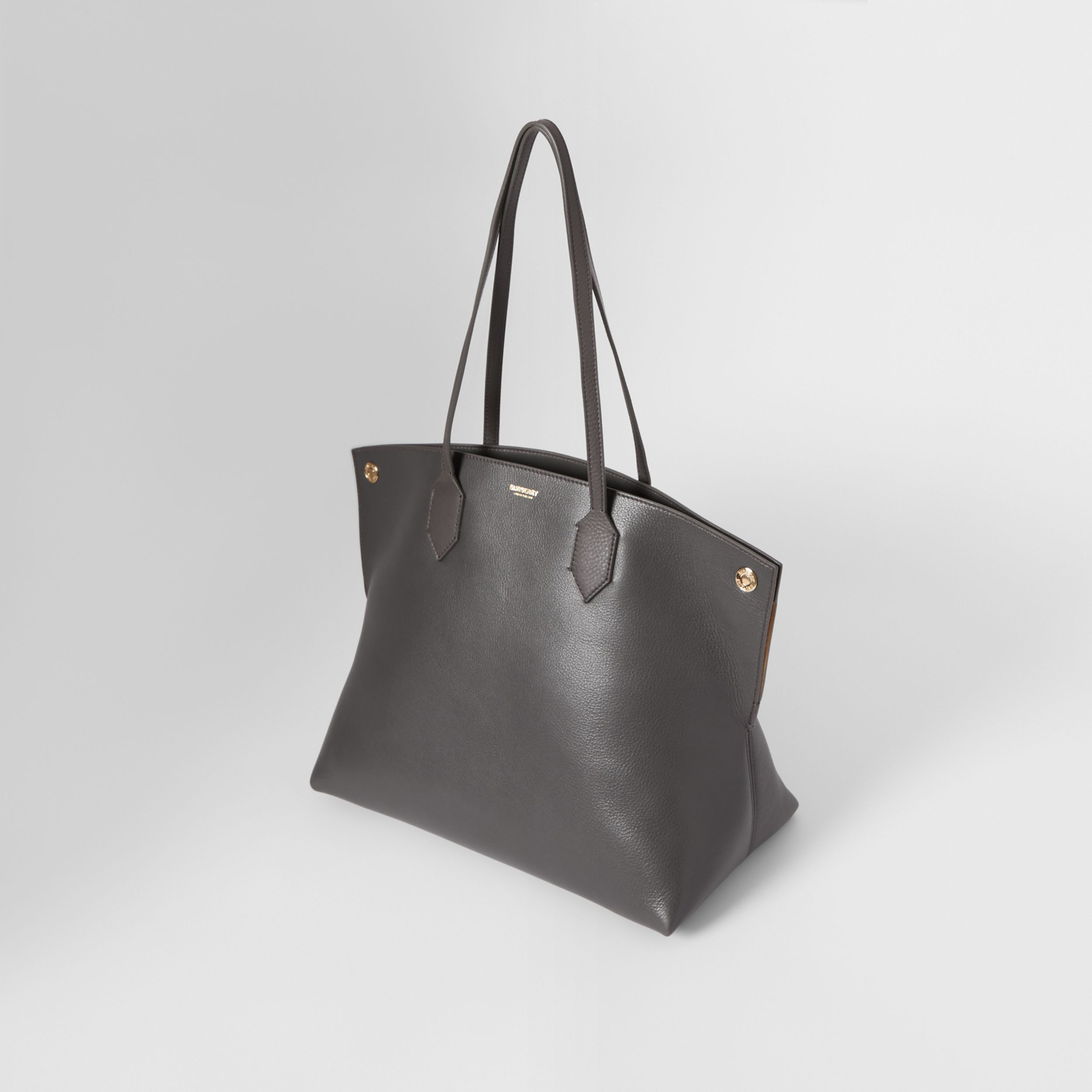 Medium Leather Society Tote in Anthracite - Women | Burberry - 4