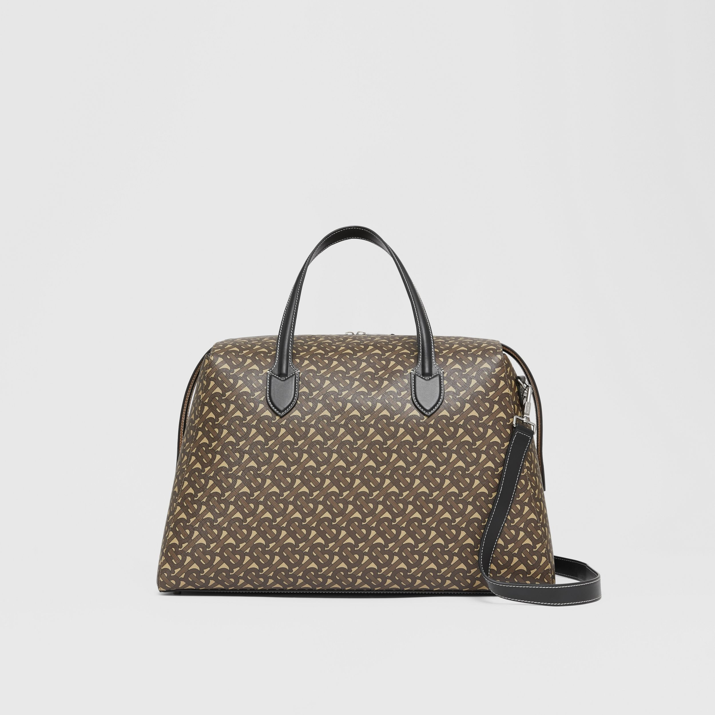 Monogram Print E-canvas Holdall in Bridle Brown - Men | Burberry - 1
