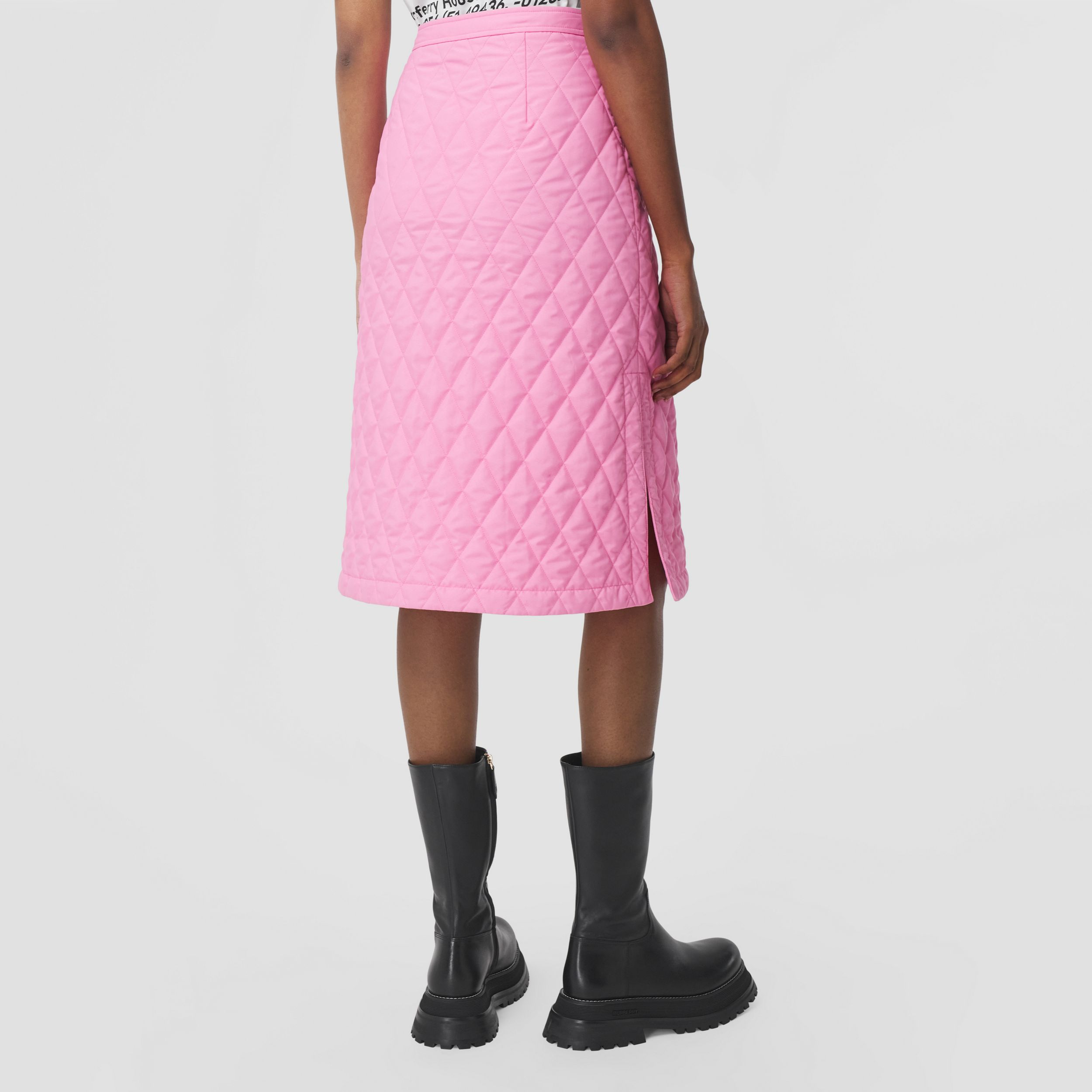 Diamond Quilted Skirt in Bubblegum Pink - Women | Burberry - 3