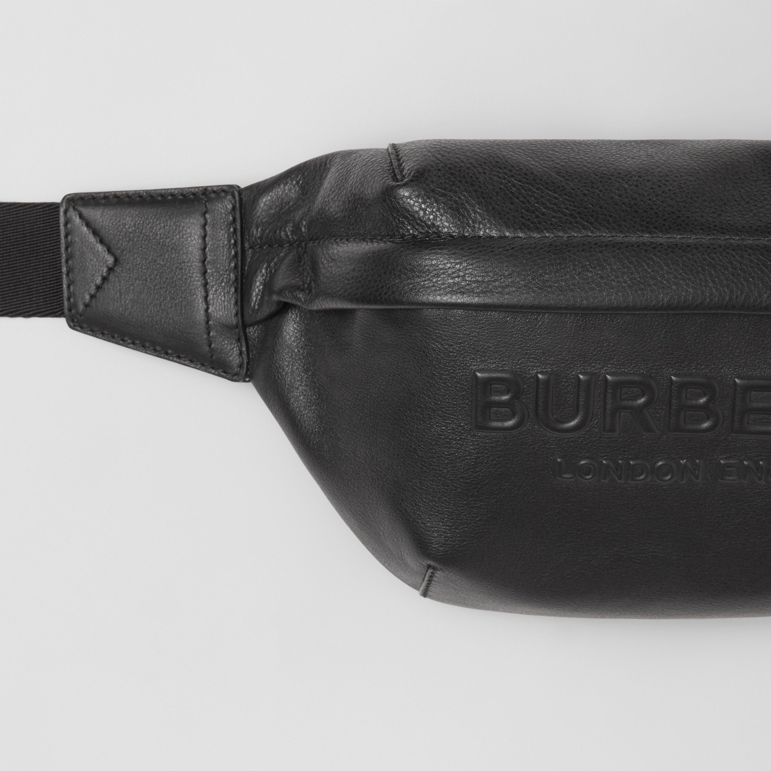 Logo Embossed Leather Sonny Bum Bag in Black - Men | Burberry - 2