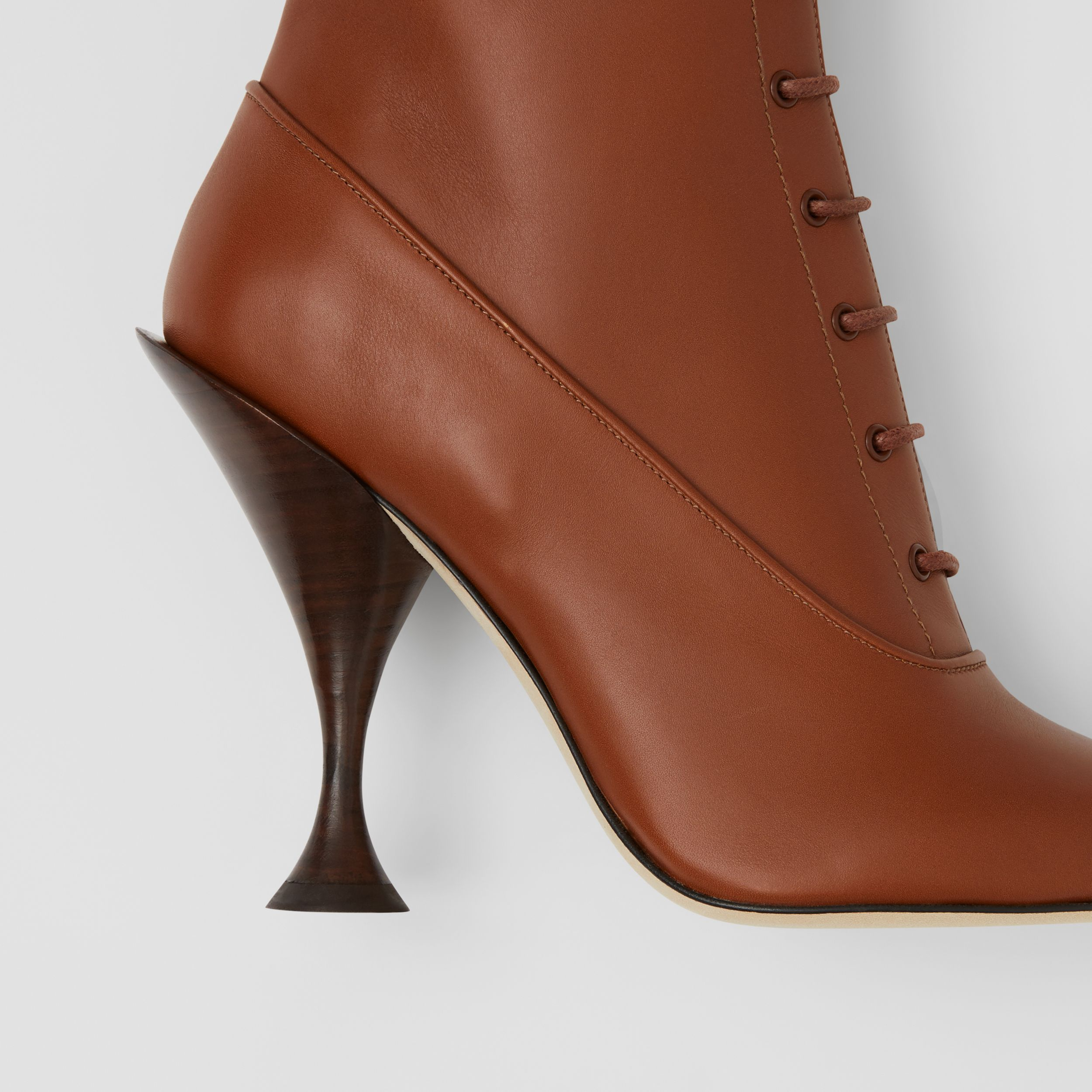 Lambskin Lace-up Ankle Boots in Tan - Women | Burberry - 2