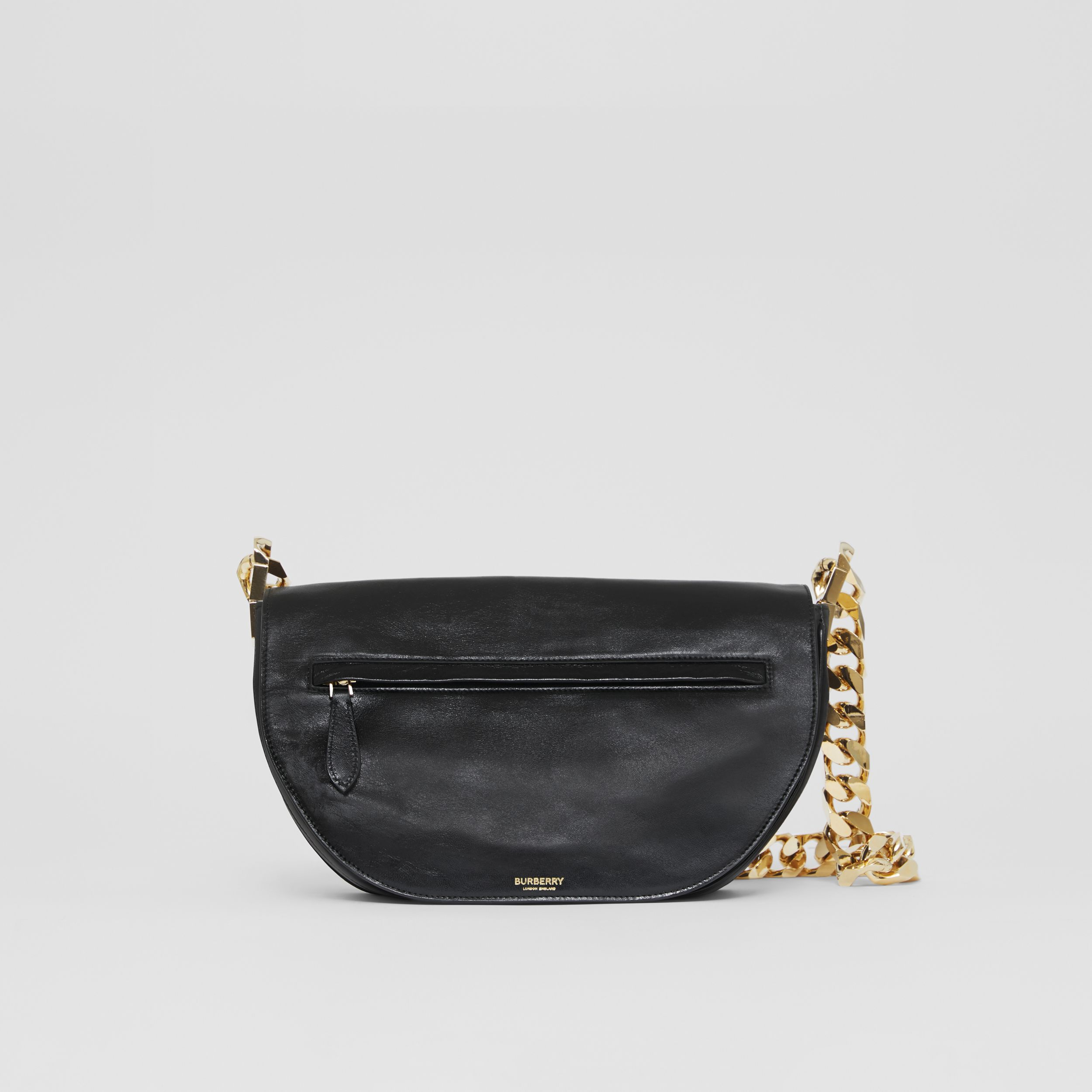 Medium Lambskin Olympia Bag in Black - Women | Burberry - 4