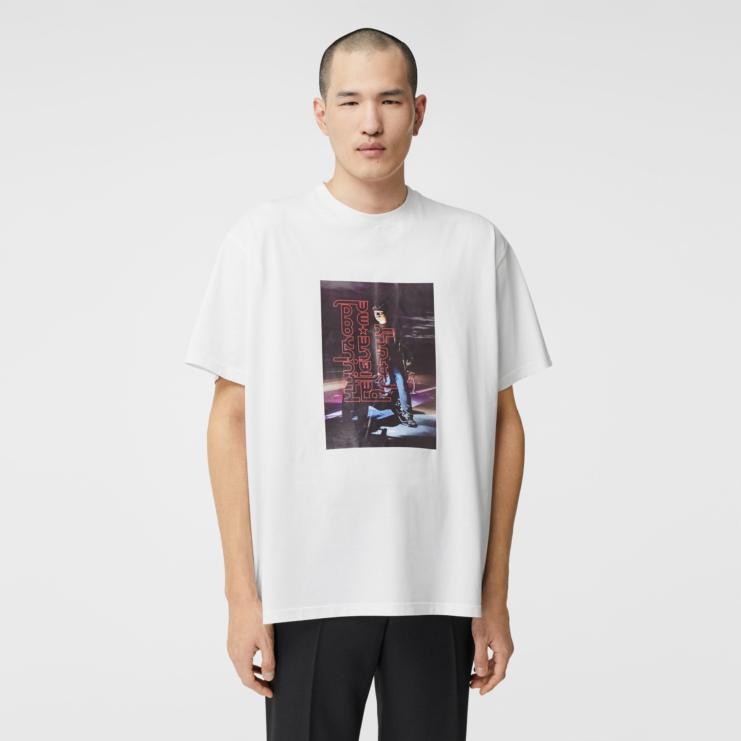 Photo Print Cotton T-shirt in Optic White | Burberry Hong Kong S.A.R. - 1