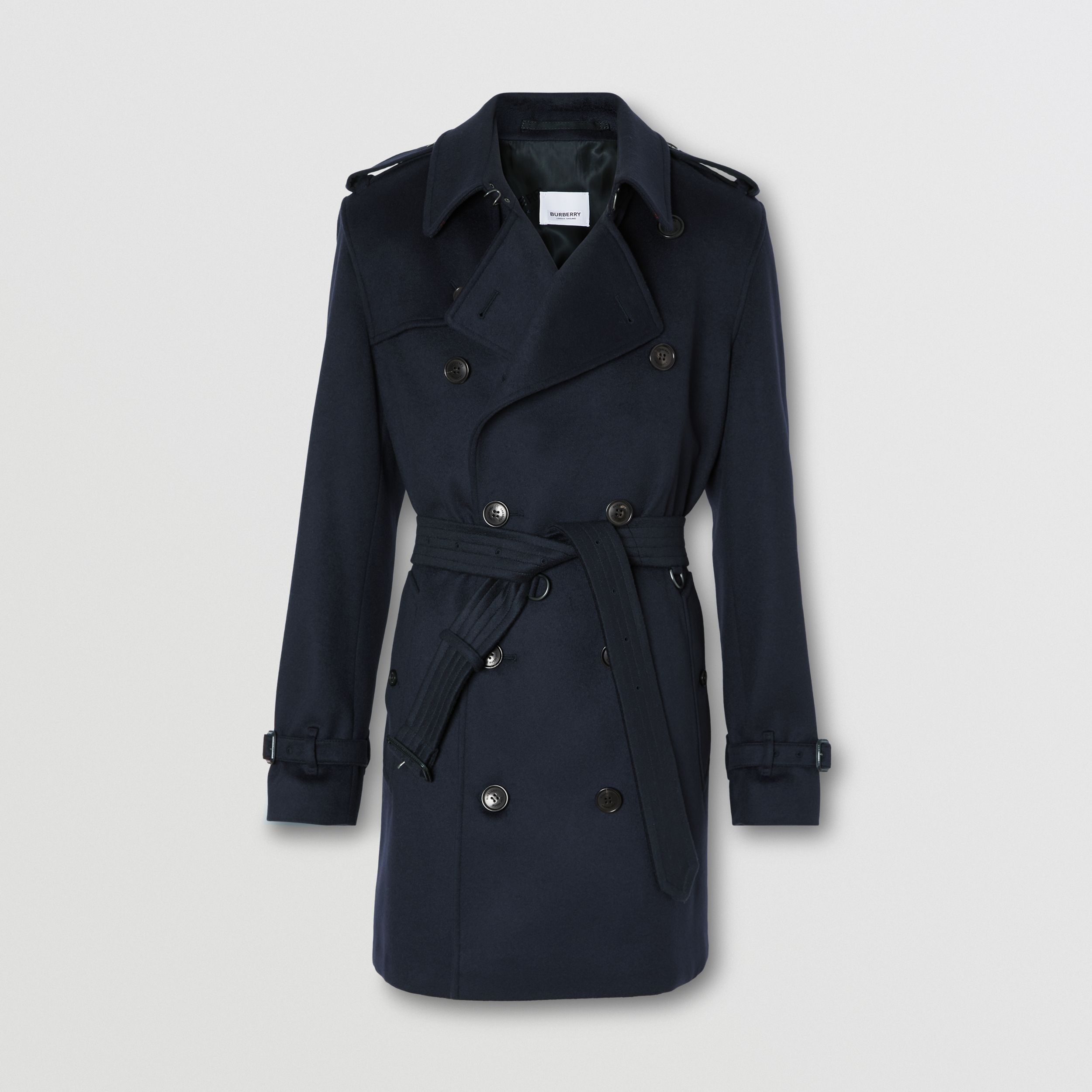 Wool Cashmere Trench Coat in Navy - Men | Burberry - 4