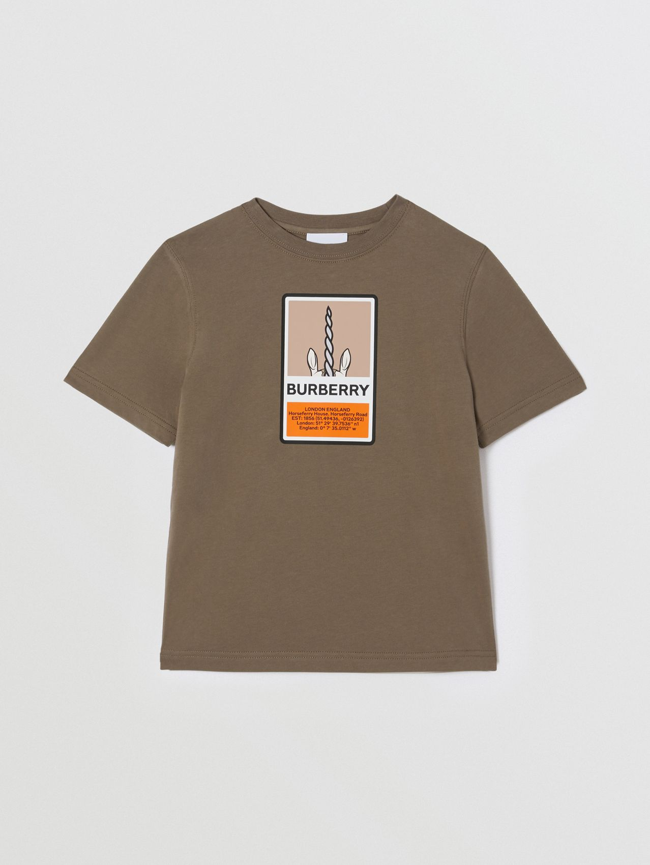 Logo Graphic Print Cotton T-shirt in Smoke