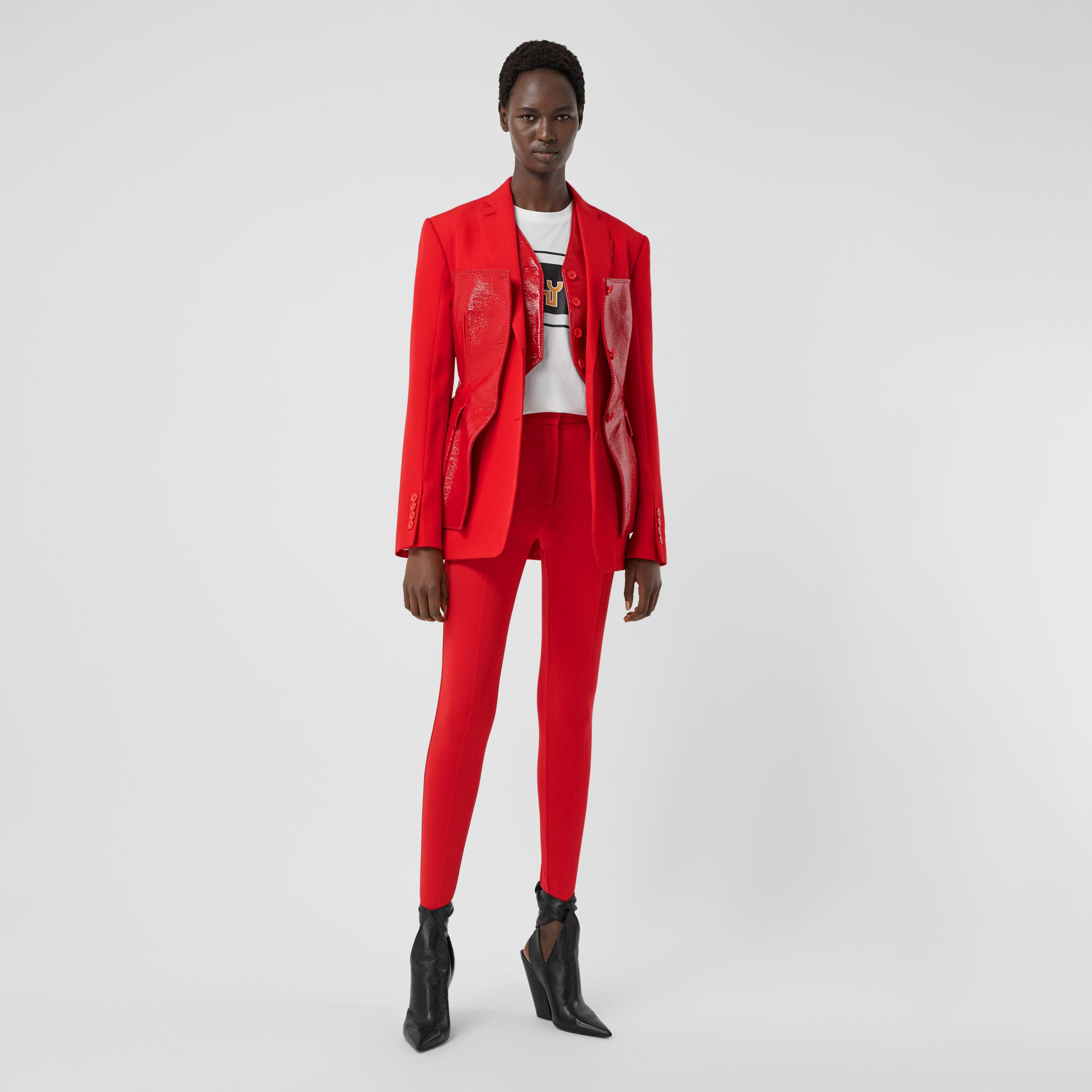 Stretch Jersey Jodhpurs in Bright Red - Women | Burberry - 1