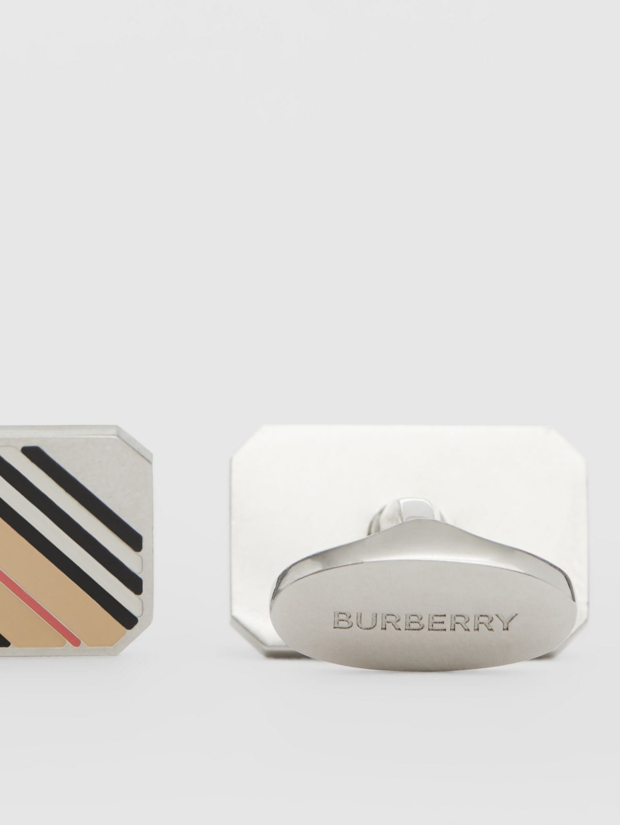 Icon Stripe Palladium-plated Cufflinks