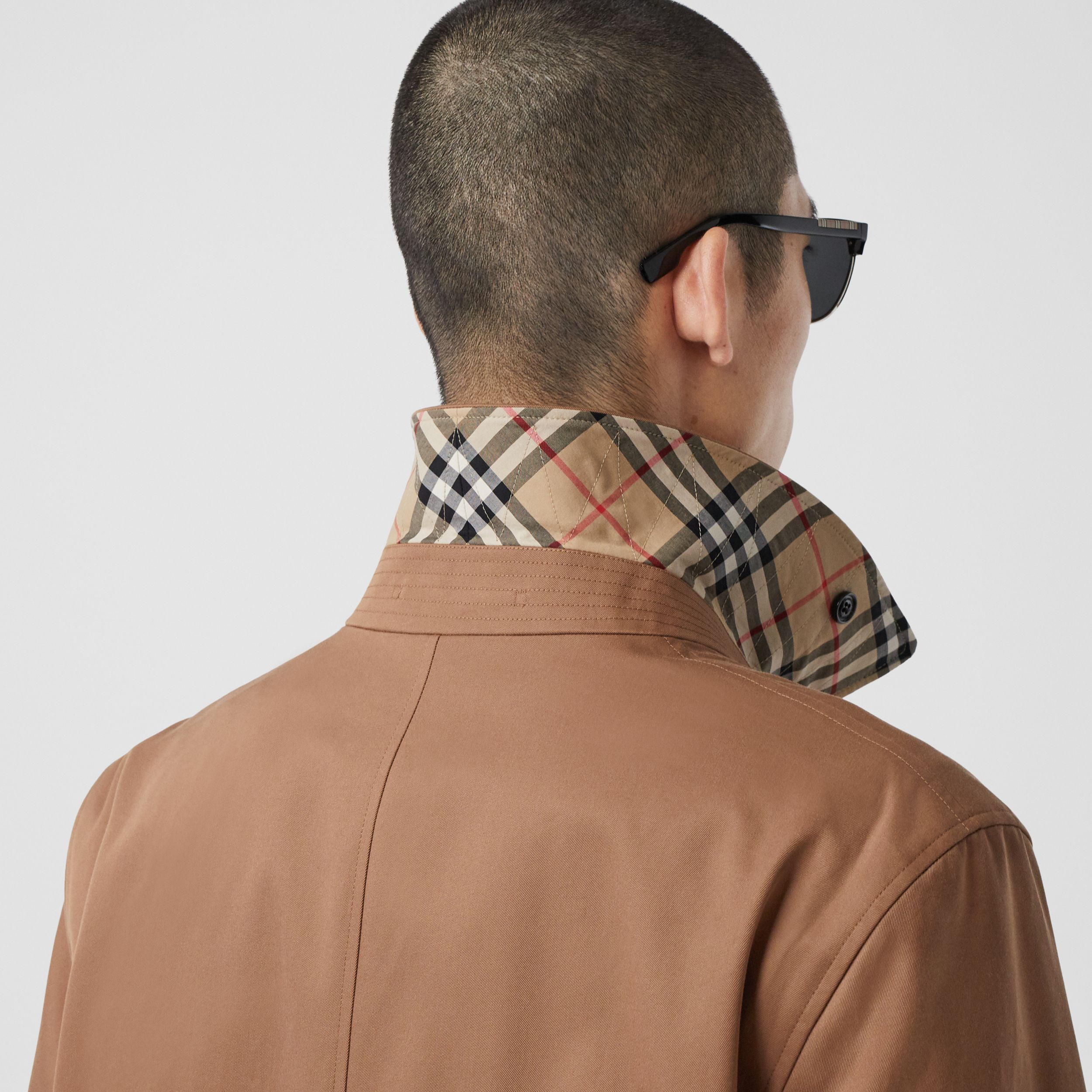 Organic Cotton Gabardine Car Coat in Dusty Caramel - Men | Burberry - 2