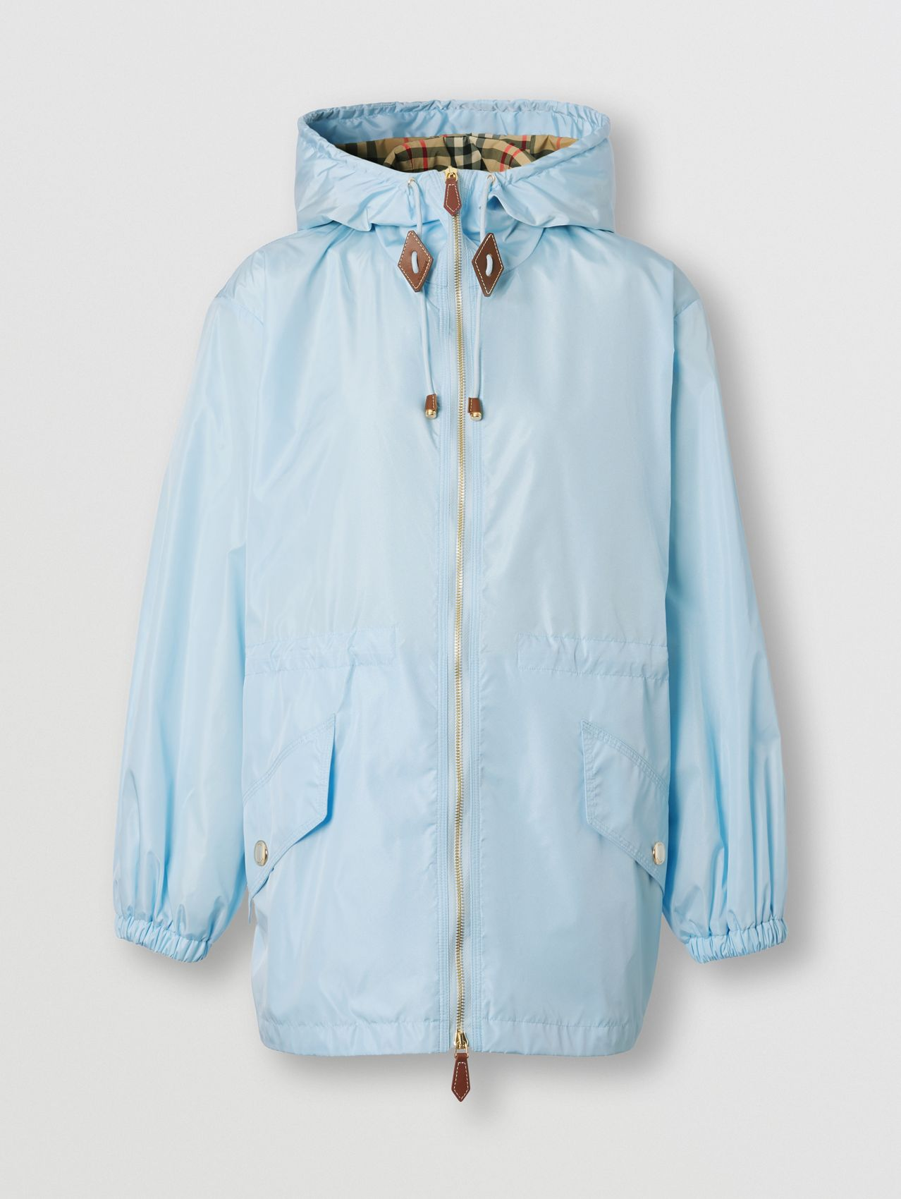Lightweight ECONYL® Hooded Jacket in Pale Blue
