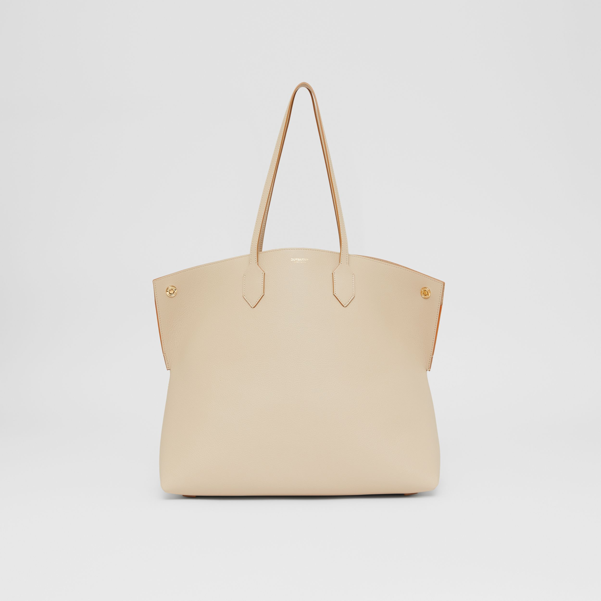 Large Leather Society Tote in Soft Fawn/orange - Women | Burberry - 1