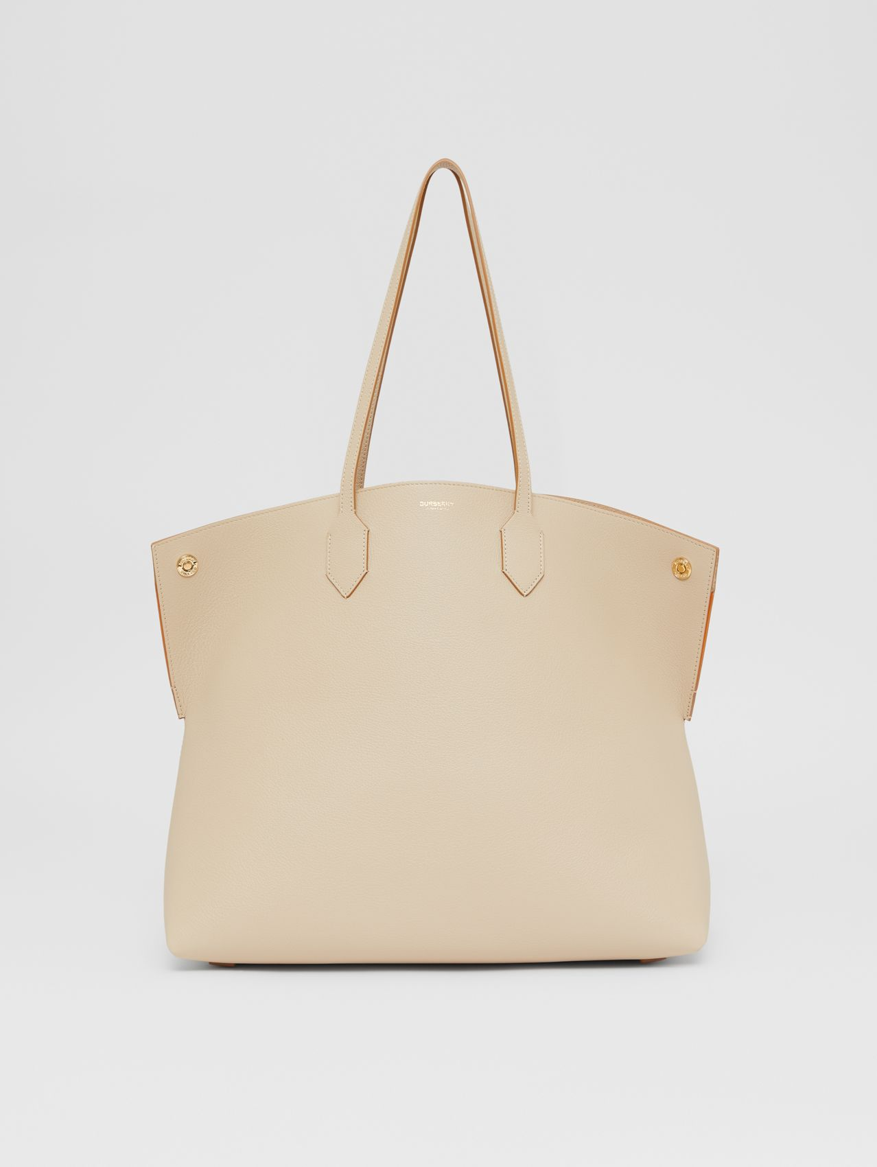 Large Leather Society Tote in Soft Fawn/orange