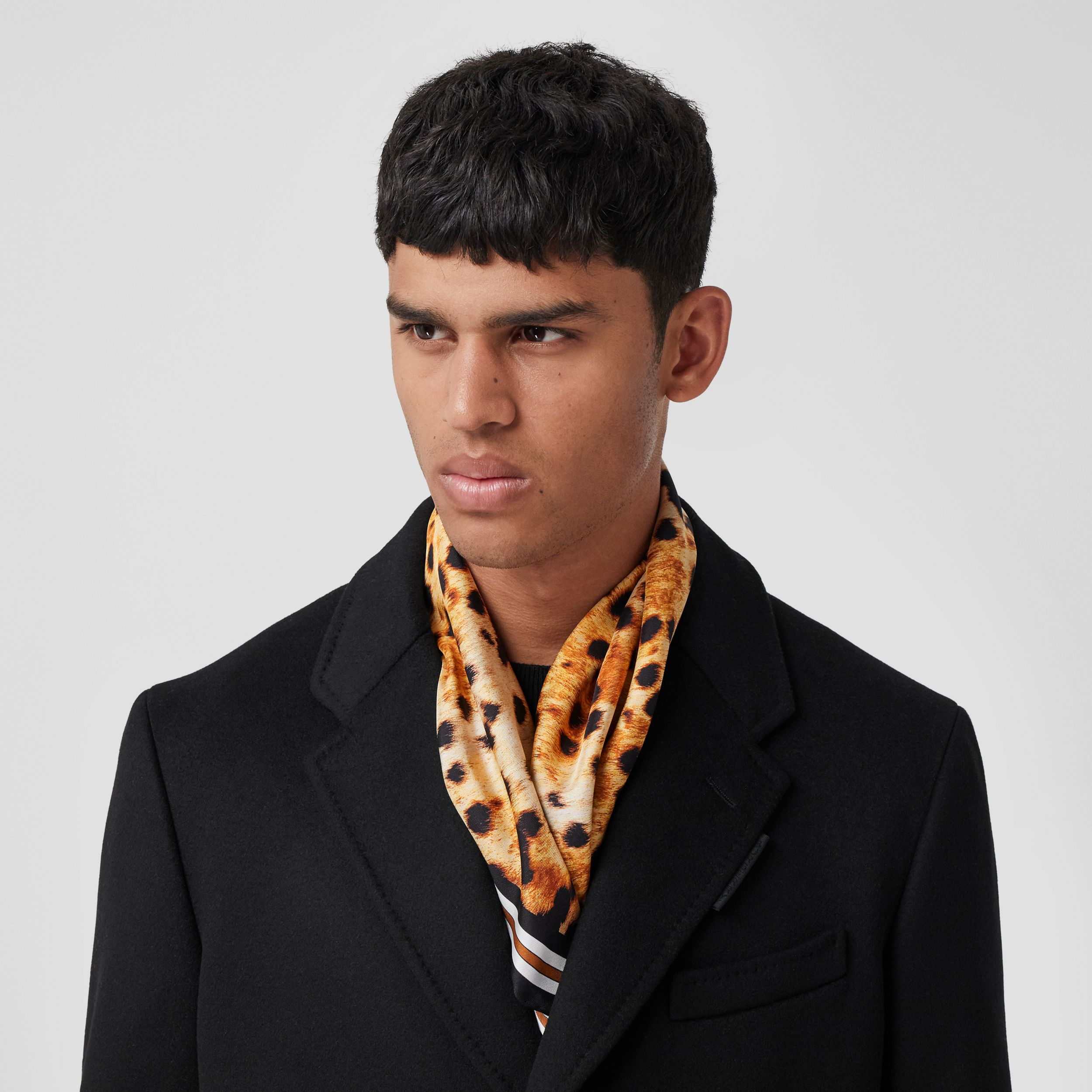 Spotted Monkey Print Silk Square Scarf in Nutmeg | Burberry - 4