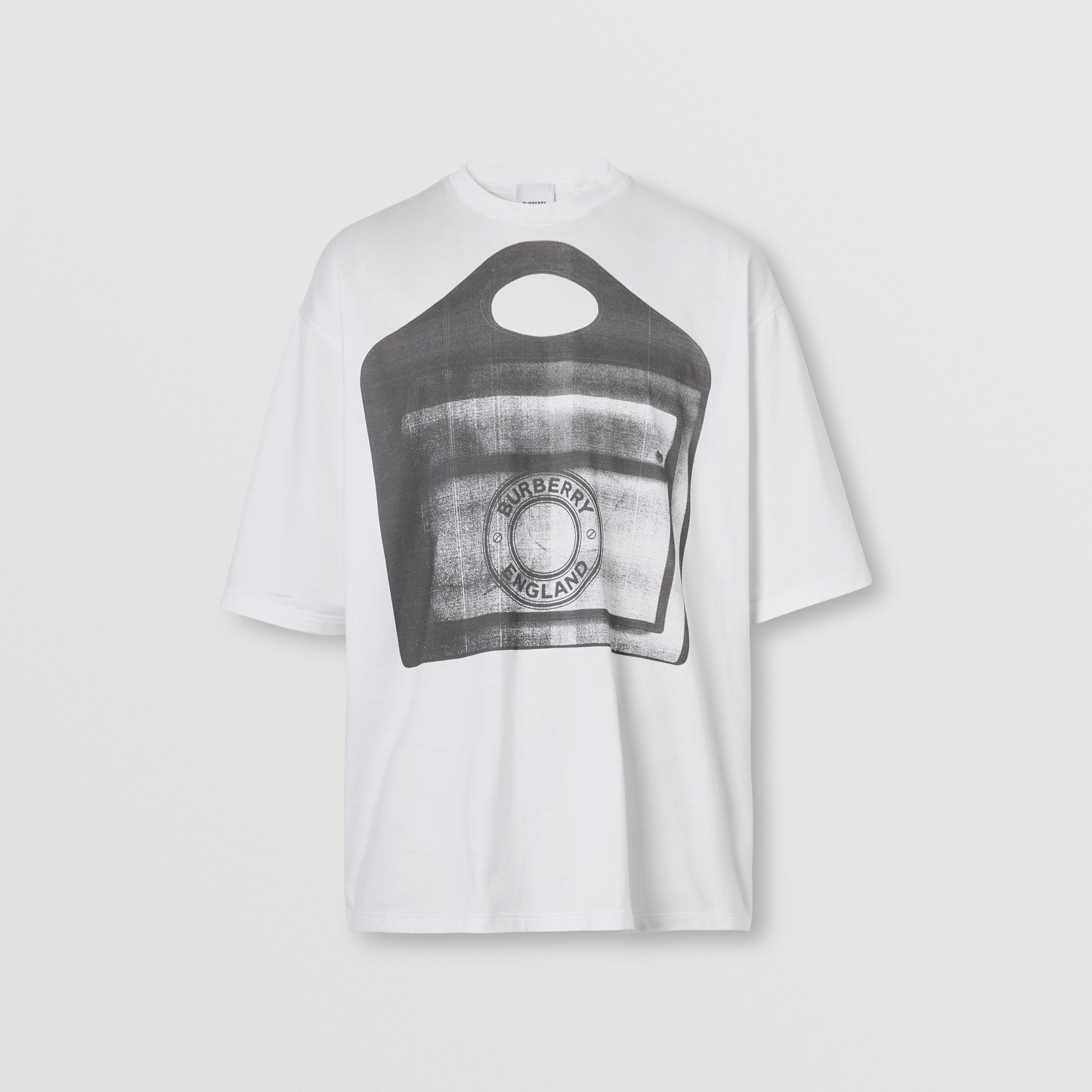 Pocket Bag Print Cotton Jersey T-shirt in White - Men | Burberry Hong Kong S.A.R. - 4