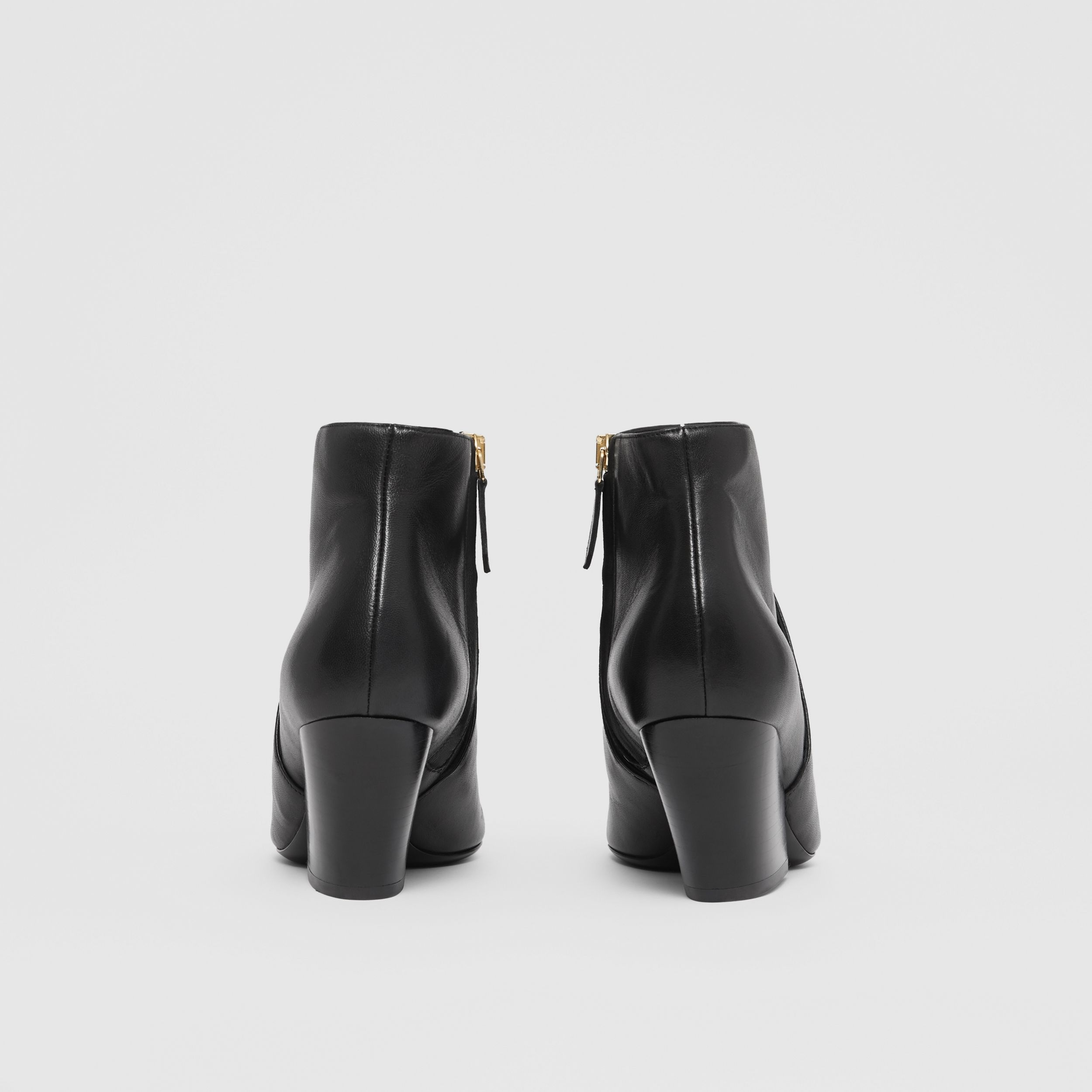 Leather Ankle Boots in Black - Women | Burberry - 4
