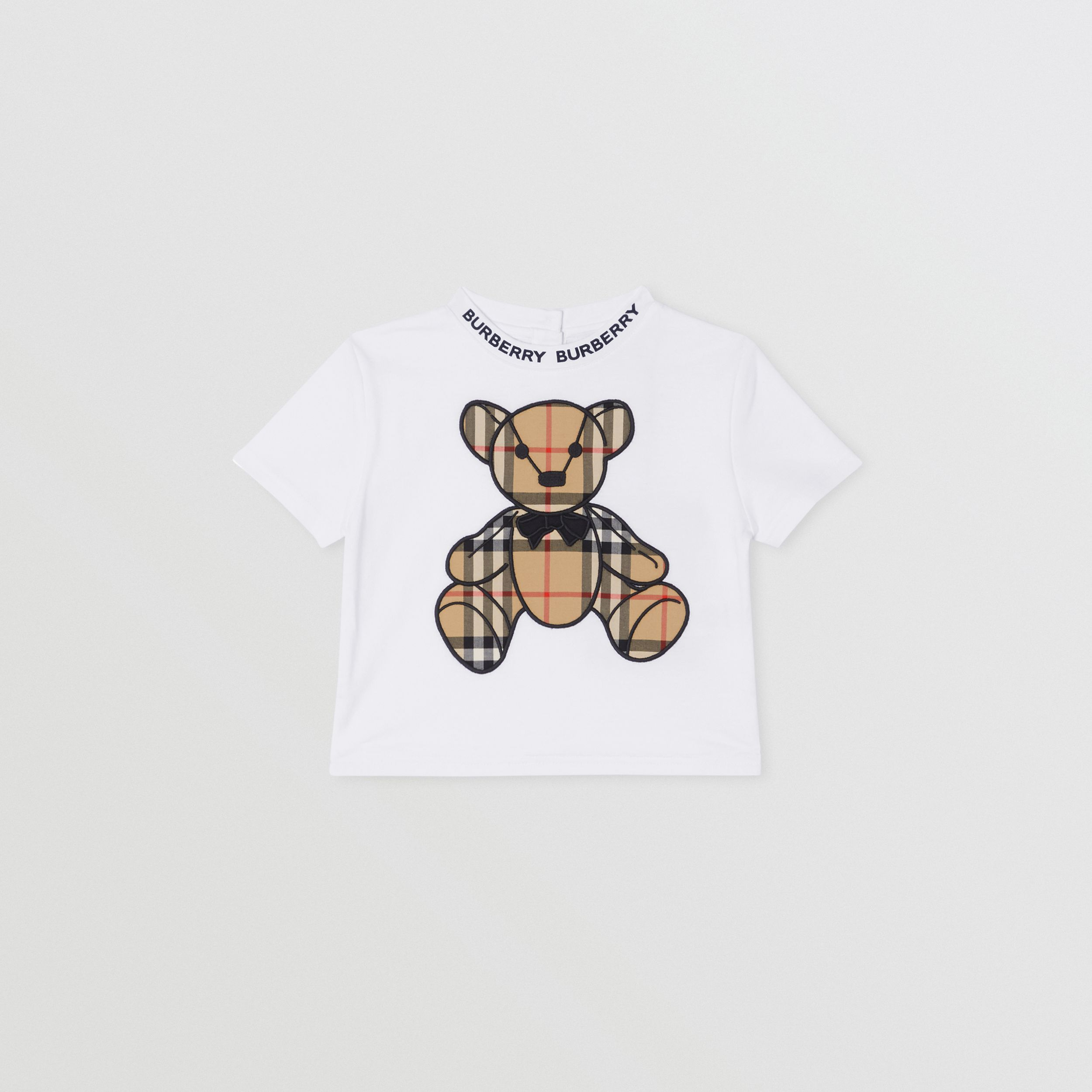 Thomas Bear Appliqué Cotton T-shirt in White - Children | Burberry Hong Kong S.A.R. - 1