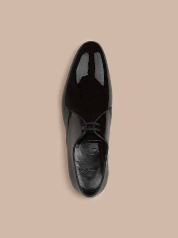 Polished Leather Lace-up Shoes in Black - cell image 2
