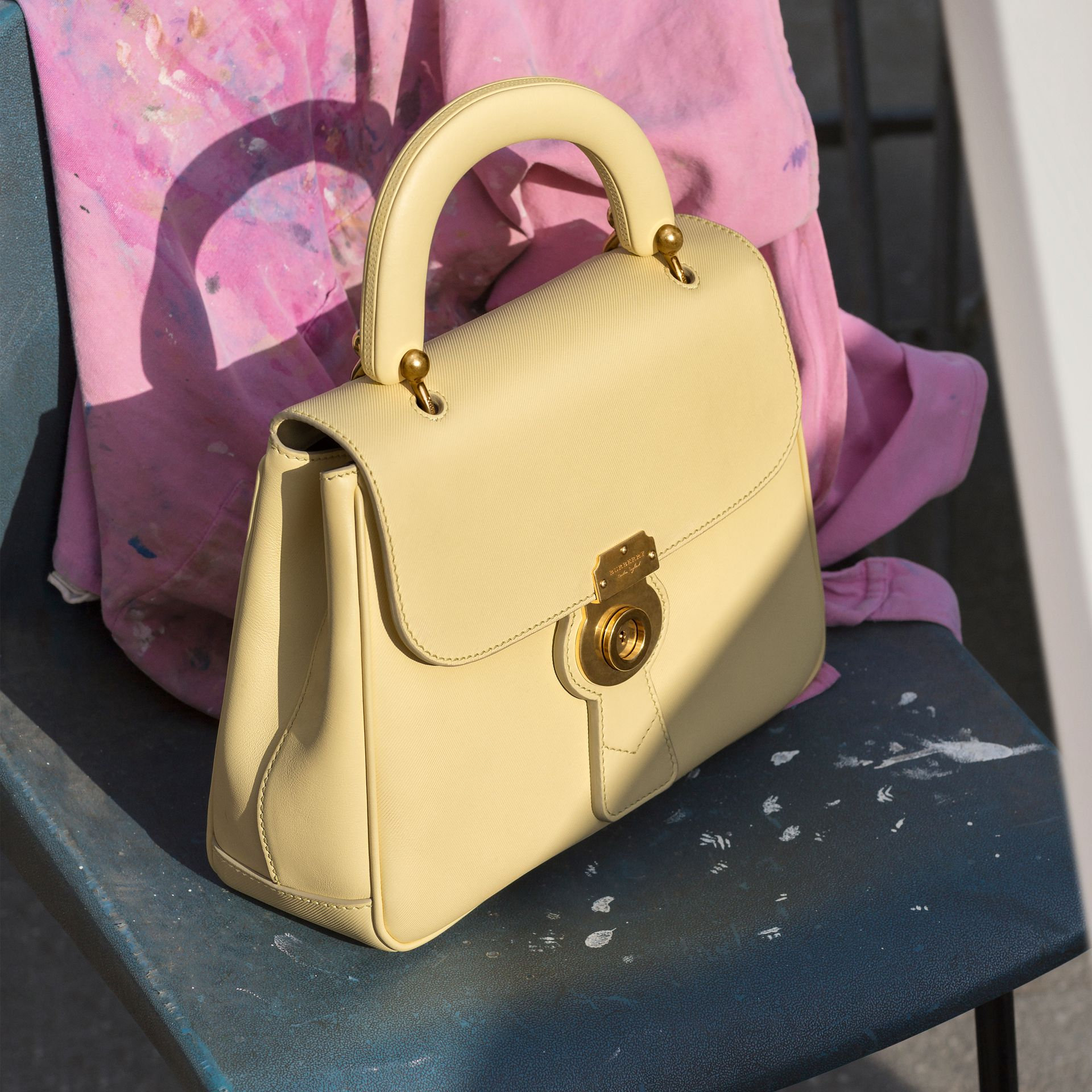 The Medium DK88 Top Handle Bag in Camomile Yellow - Women | Burberry Australia - gallery image 7
