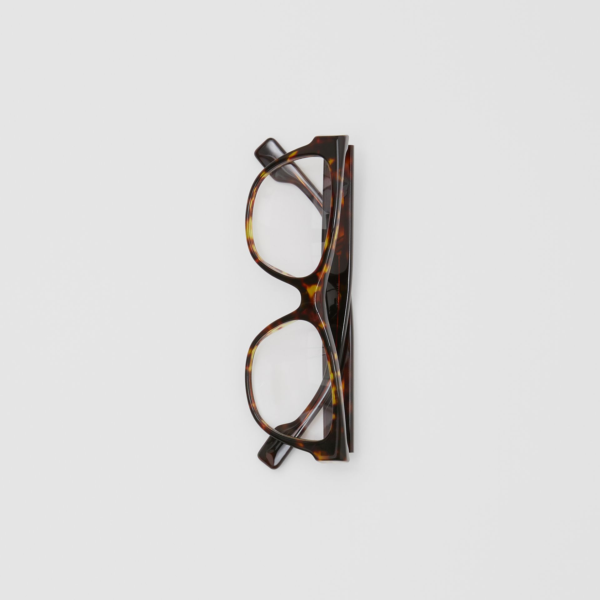 Square Optical Frames in Tortoiseshell - Women | Burberry - gallery image 3