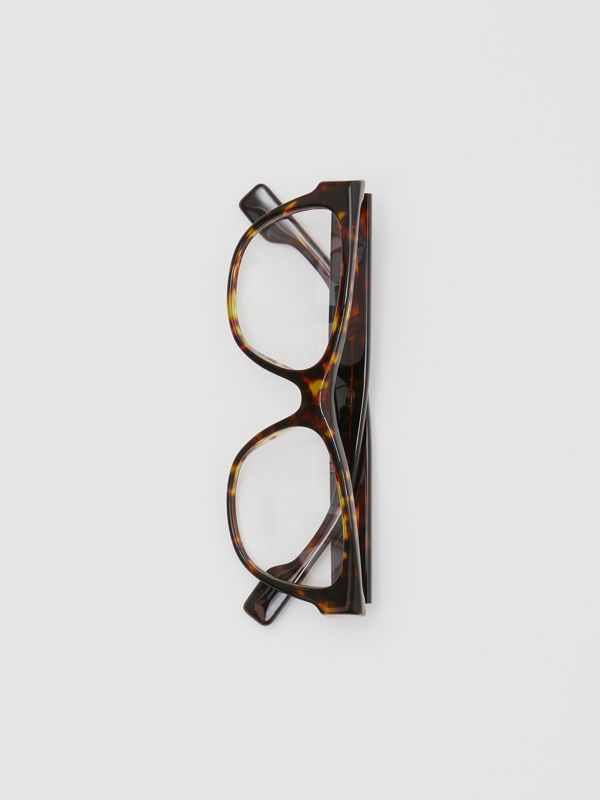 Square Optical Frames in Tortoiseshell - Women | Burberry United Kingdom - cell image 3