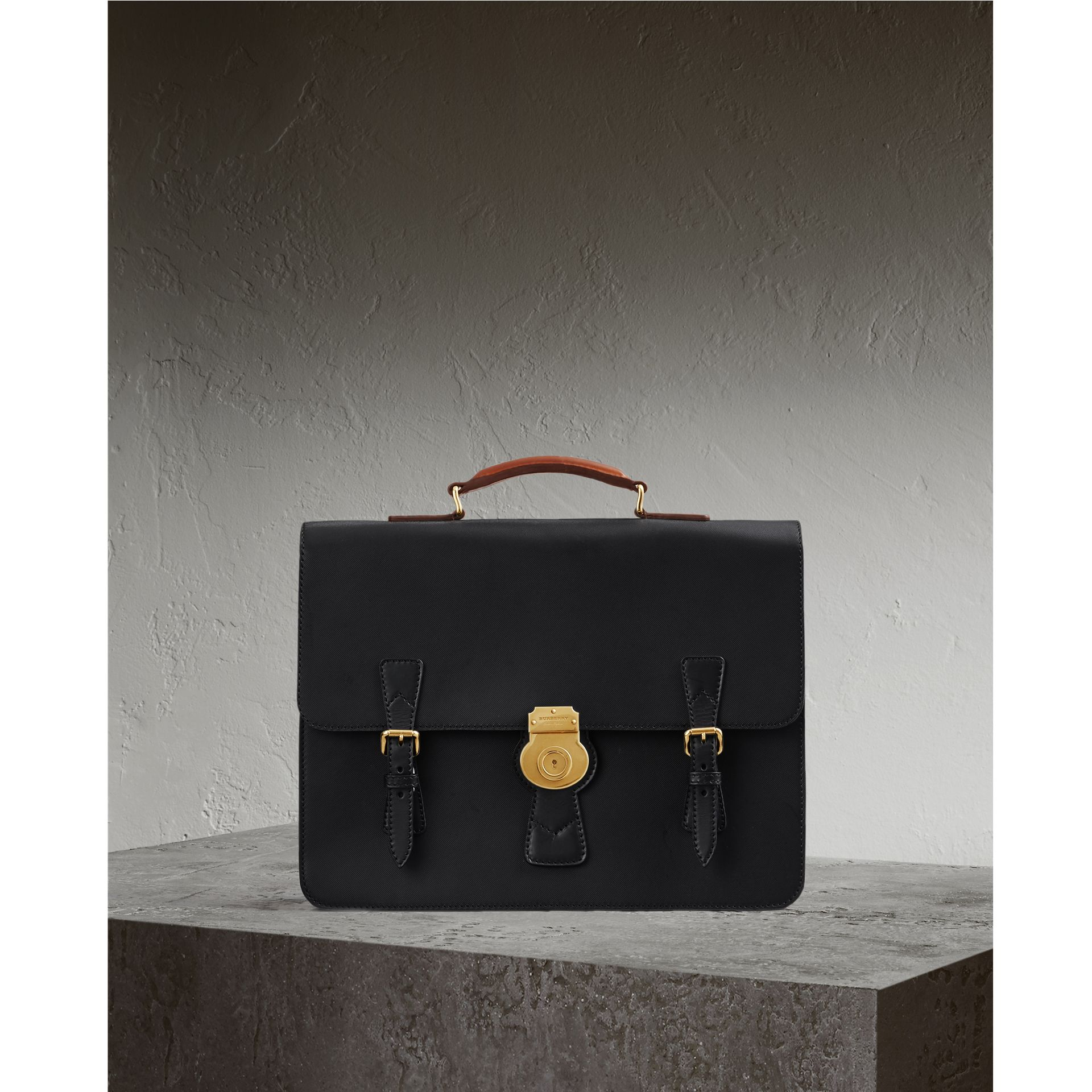 The Medium DK88 Satchel in Black - Men | Burberry - gallery image 1