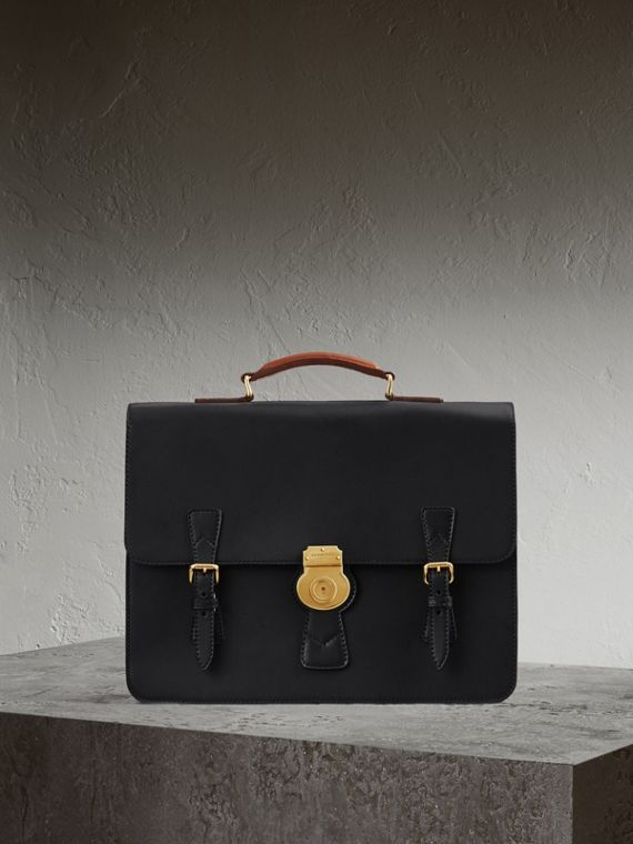 The Medium DK88 Satchel in Black