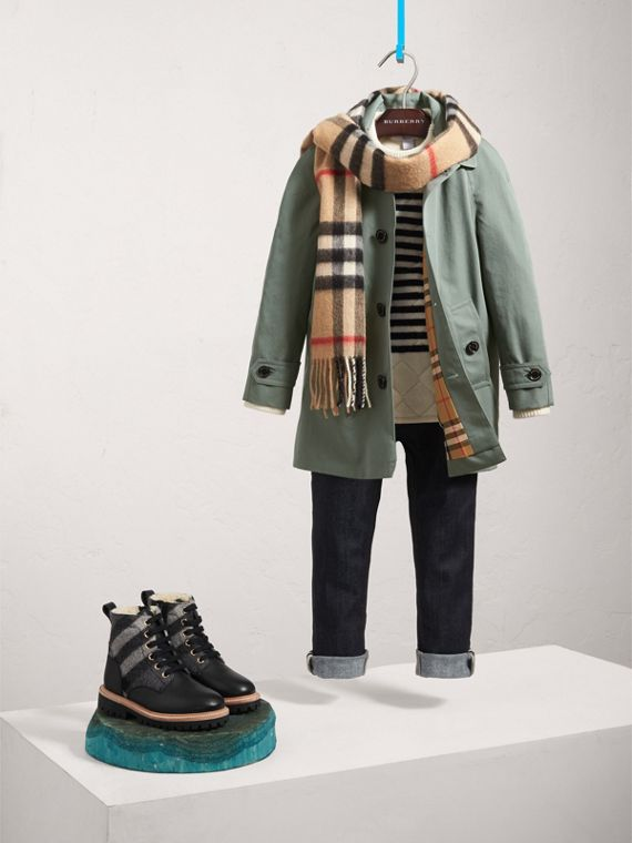 Tropical Gabardine Car Coat in Dusty Blue - Boy | Burberry United Kingdom - cell image 2