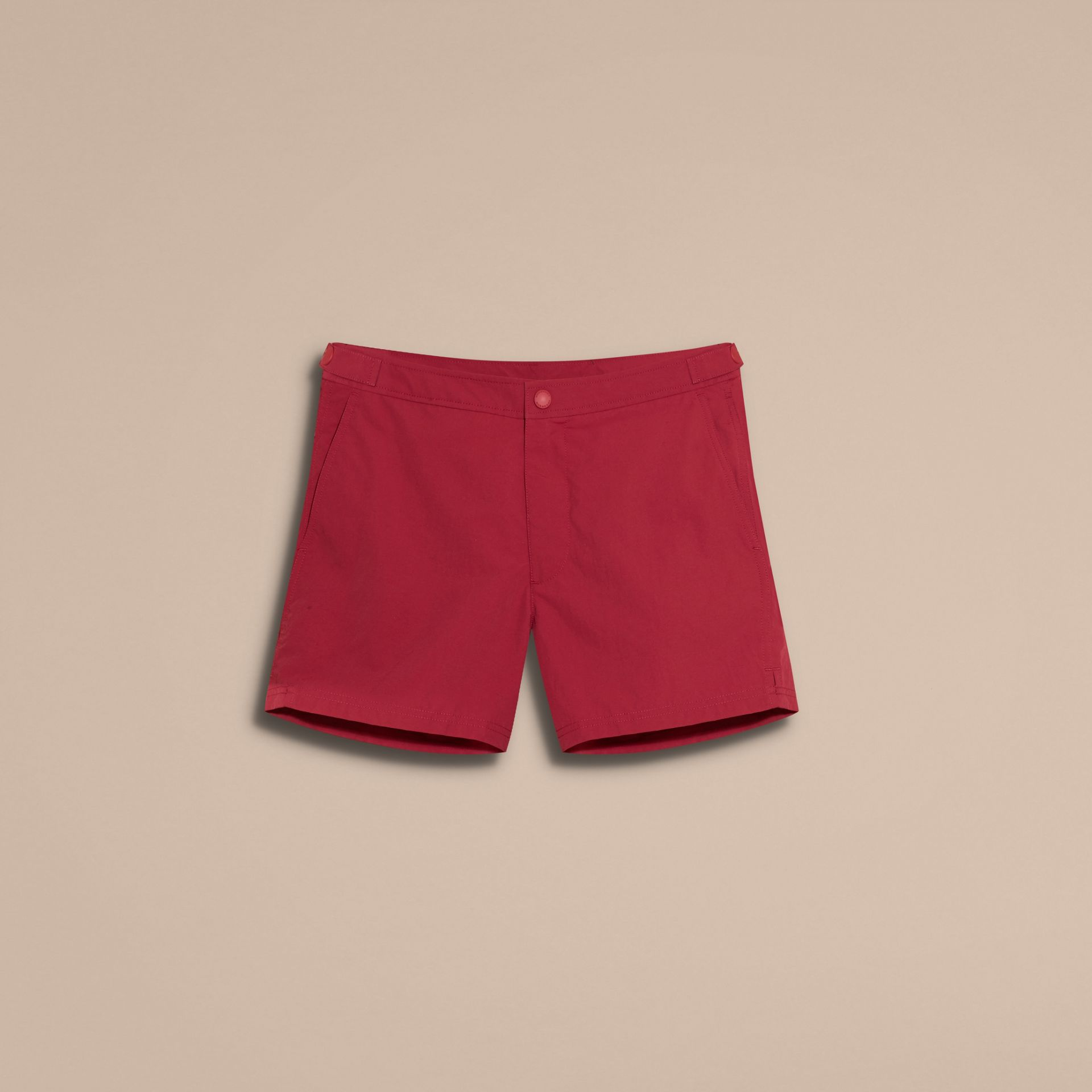 Tailored Swim Shorts in Parade Red - Men | Burberry - gallery image 4