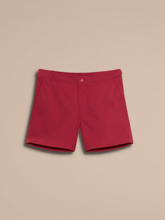 Tailored Swim Shorts in Parade Red - Men | Burberry Australia