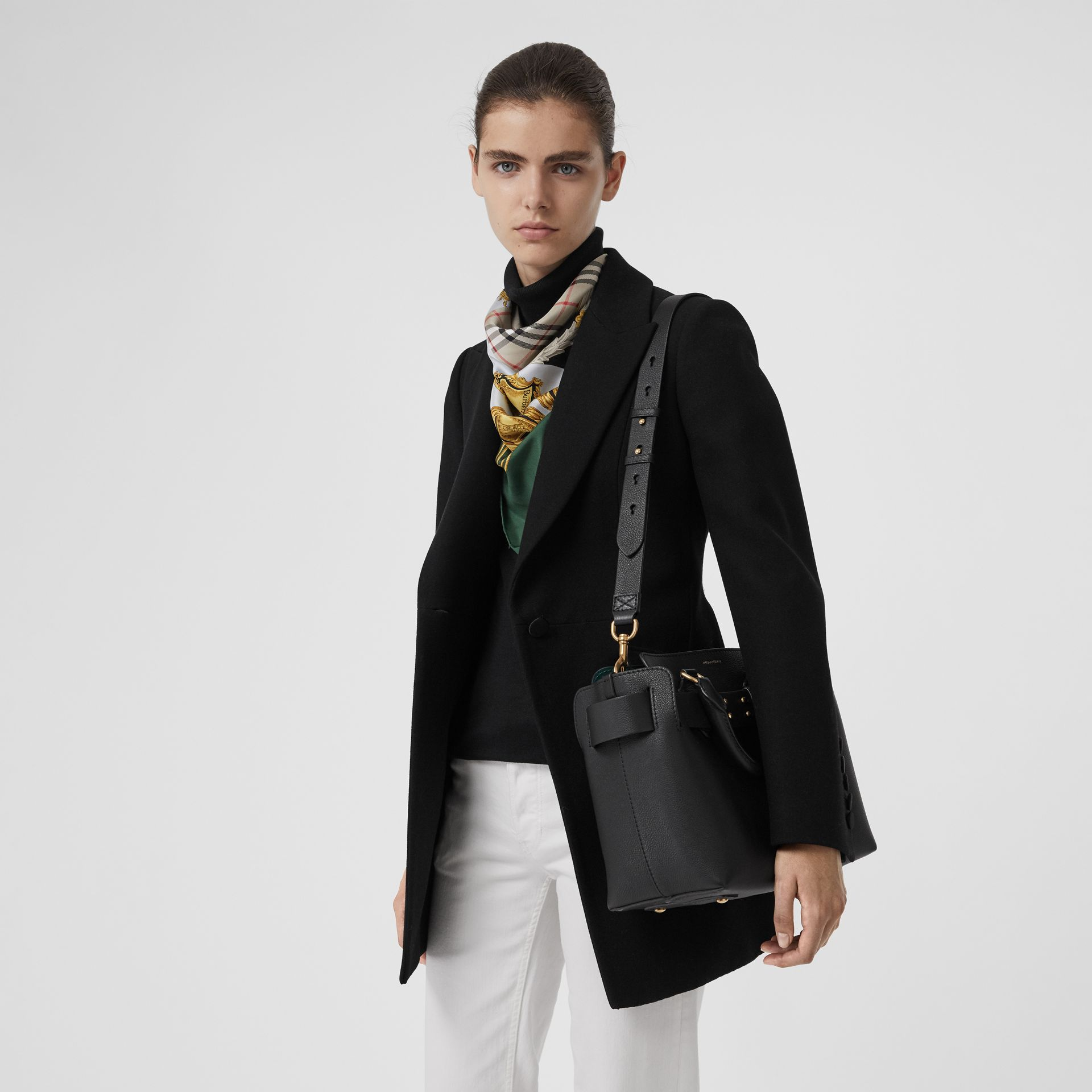 The Small Leather Belt Bag in Black - Women | Burberry United Kingdom - gallery image 3