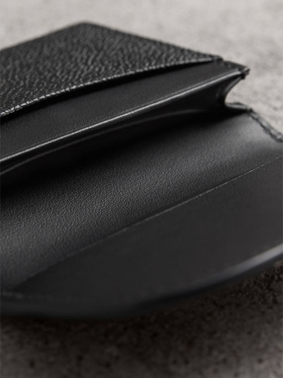 Grainy Leather Card Case in Black - Women | Burberry Singapore - cell image 3