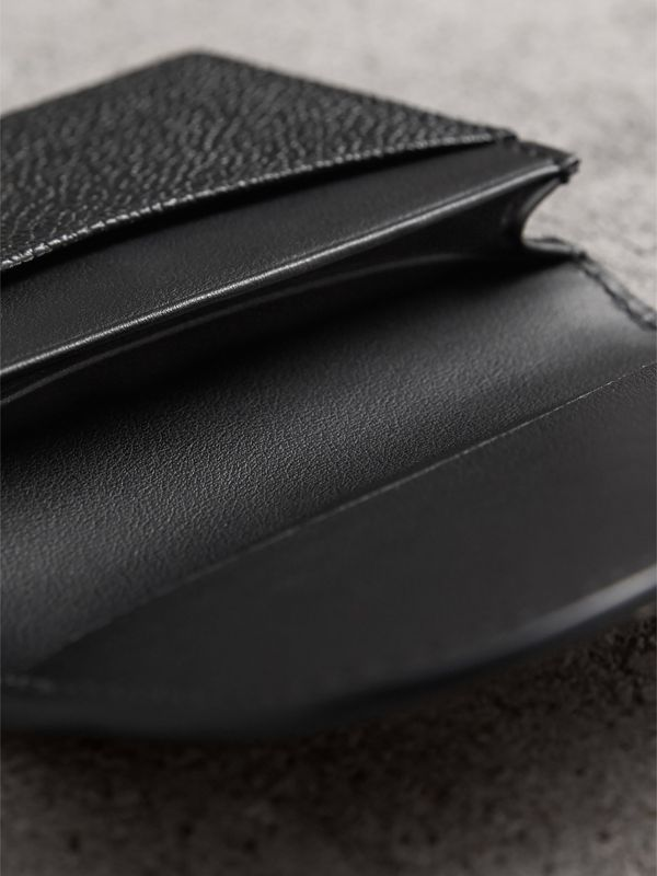 Grainy Leather Card Case in Black | Burberry - cell image 3
