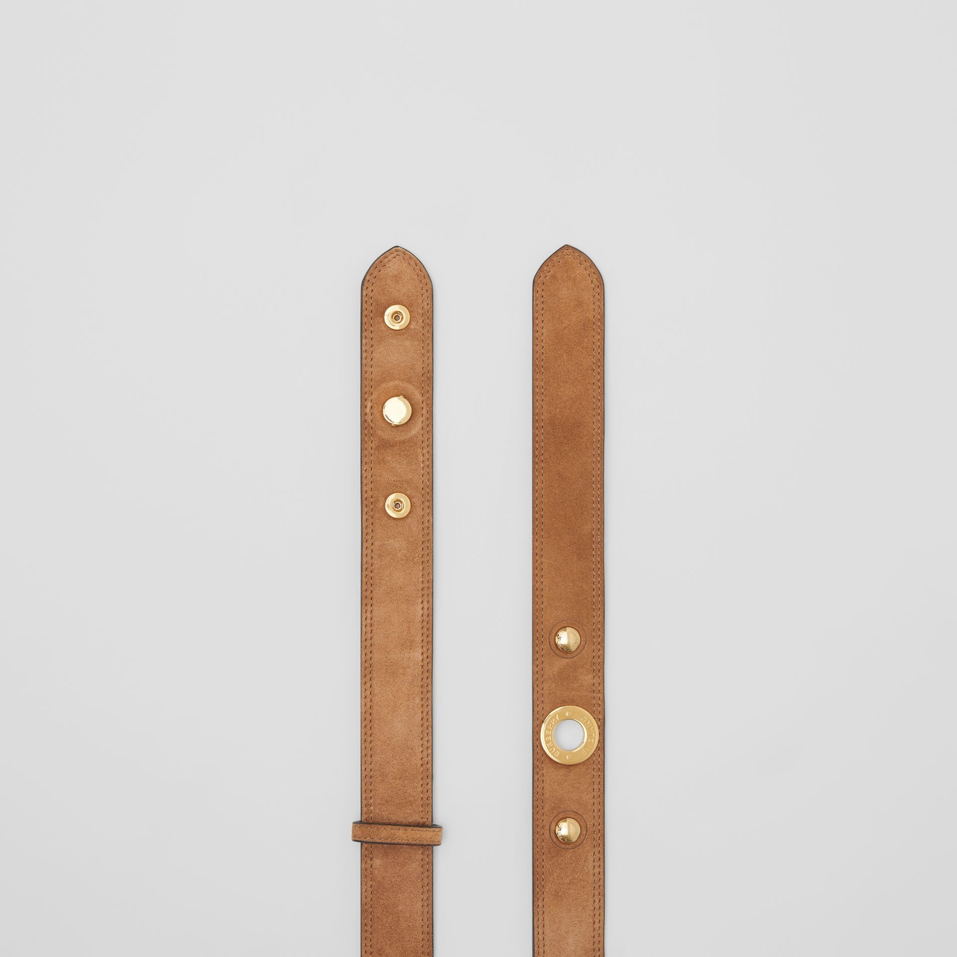 Triple Stud Leather Belt in Honey - Women | Burberry Australia - gallery image 5