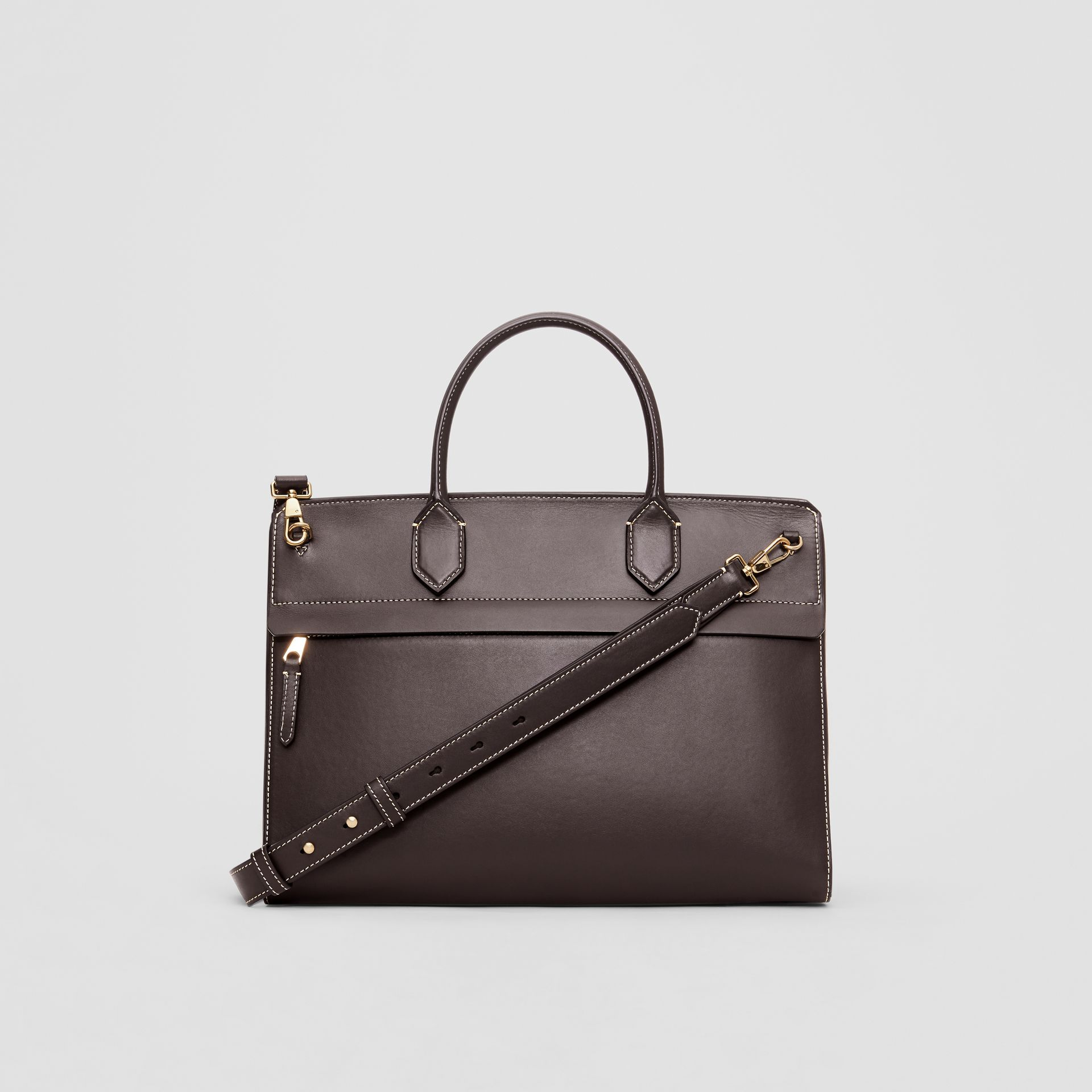 Medium Leather Elizabeth Bag in Coffee - Women | Burberry - gallery image 7