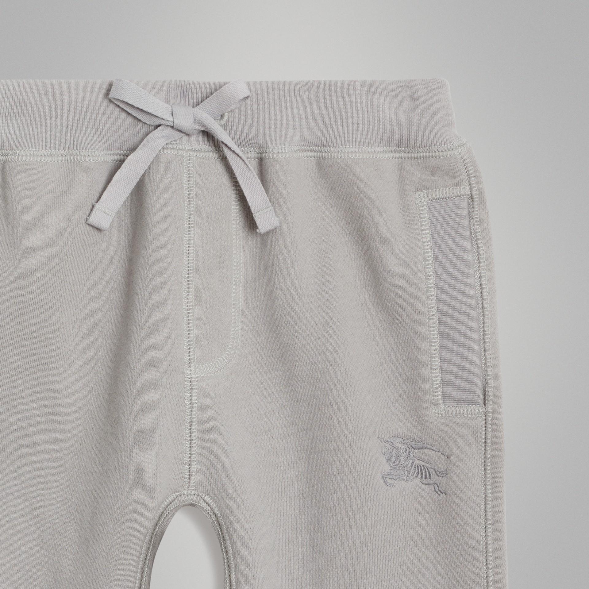 Pantalones deportivos en tejido jersey de algodón (Mezcla  Gris Tiza) | Burberry - imagen de la galería 4