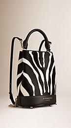 The Bucket Backpack in Animal Print Calfskin