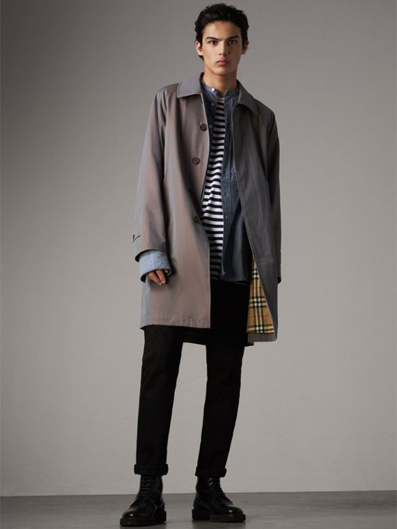 The Camden – Long Car Coat in Lilac Grey - Men | Burberry