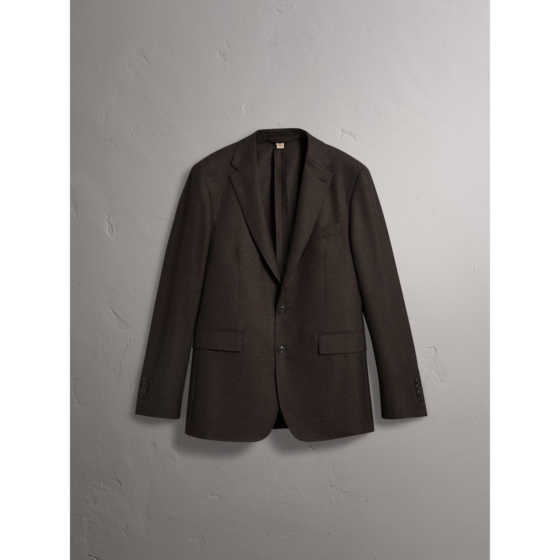Traje de corte Soho en franela de lana (Mezcla  Ver Militar) - Hombre | Burberry - imagen de la galería 4