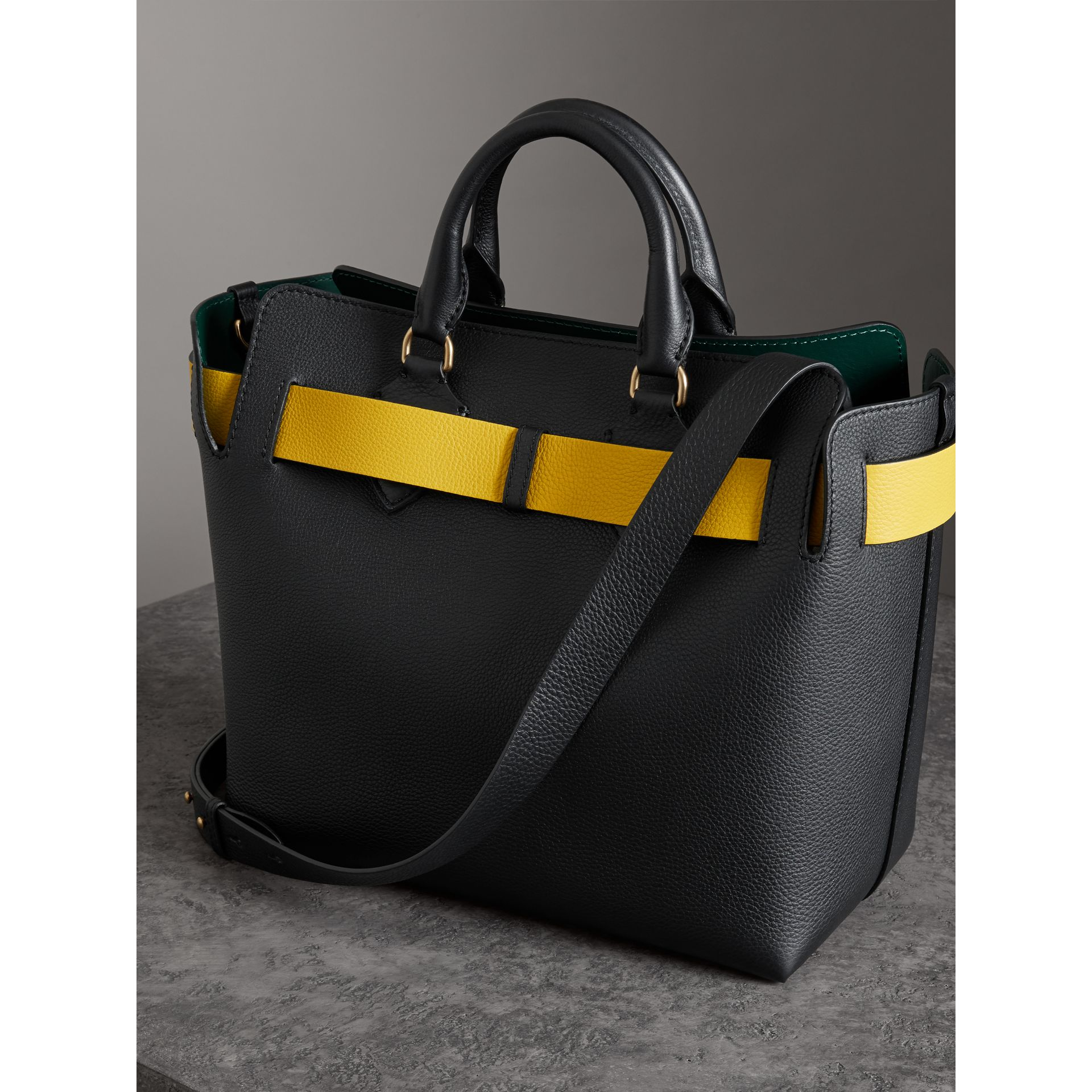 The Medium Leather Belt Bag in Black - Women | Burberry - gallery image 3