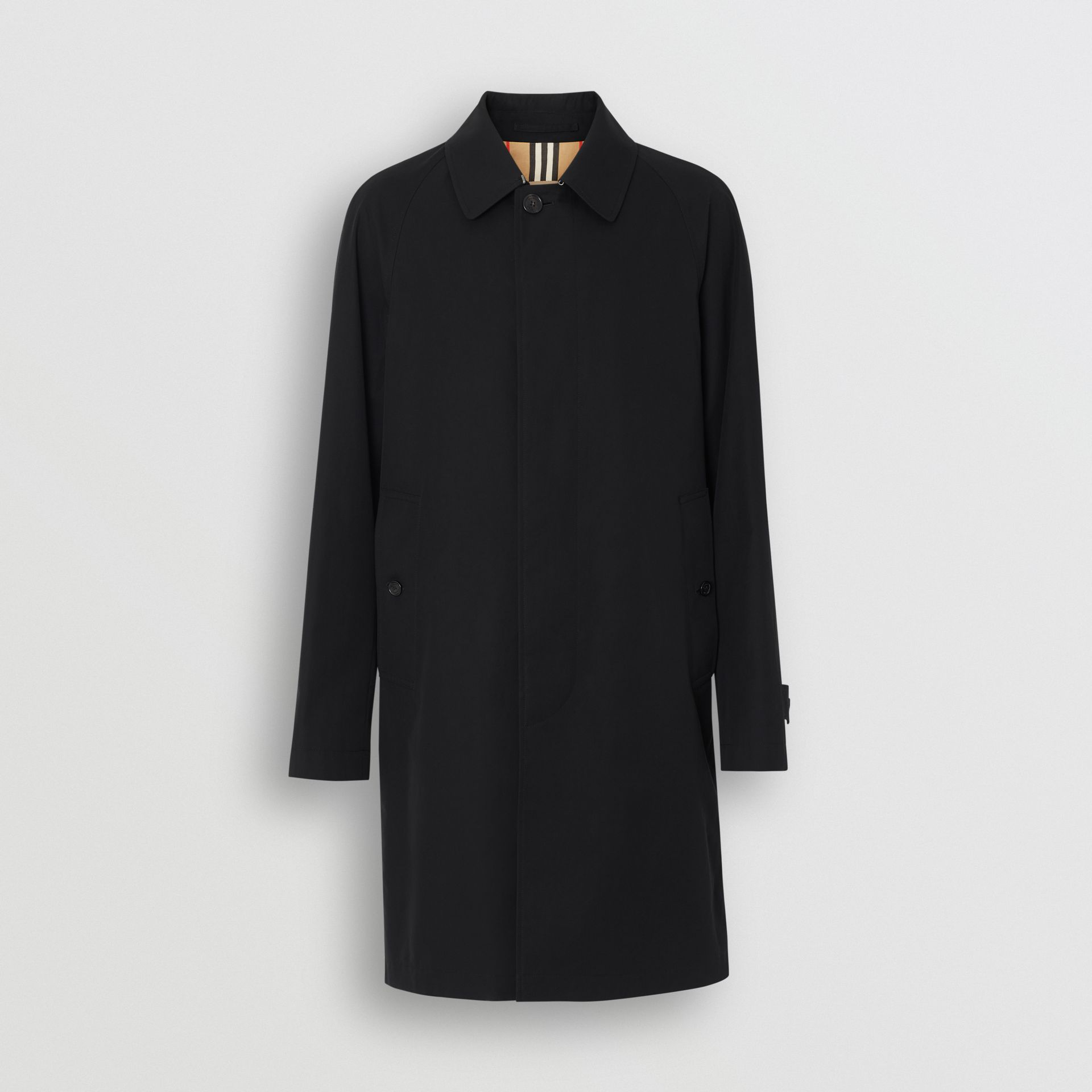 Icon Stripe Detail Tropical Gabardine Car Coat in Black - Men | Burberry United Kingdom - gallery image 3