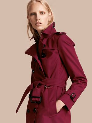 DAMSON PINK Cotton Gabardine Trench Coat 产品图片01