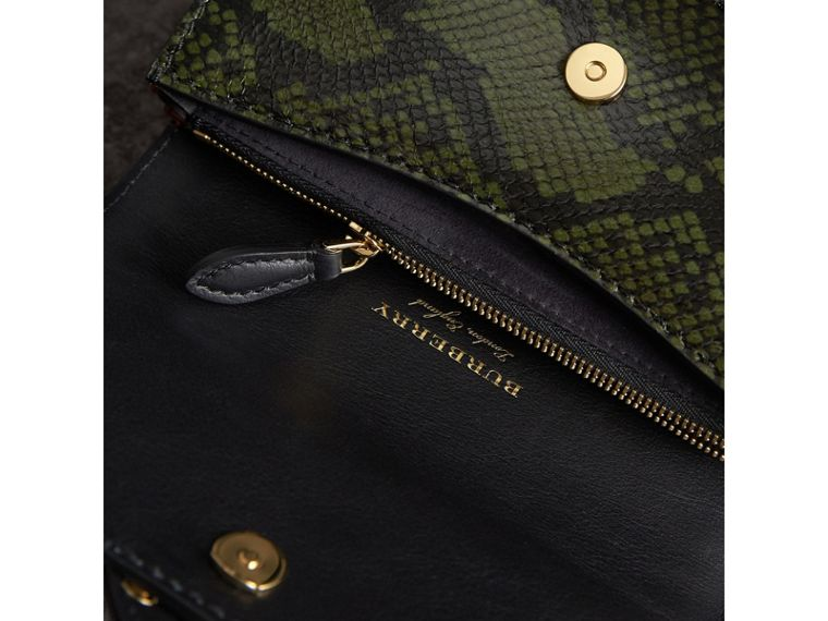 The Ruffle Buckle Bag in Snakeskin, Ostrich and Calfskin - Women | Burberry - cell image 4