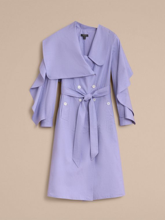Cotton Chambray Sculptural Wrap Dress - Women | Burberry - cell image 3