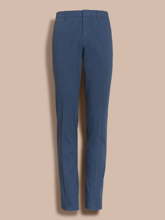 Slim Fit Stretch-Cotton Trousers - cell image 3