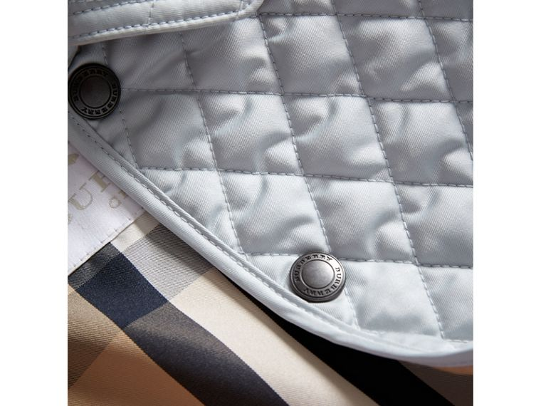 Check Detail Diamond Quilted Jacket in Ice Blue | Burberry - cell image 1