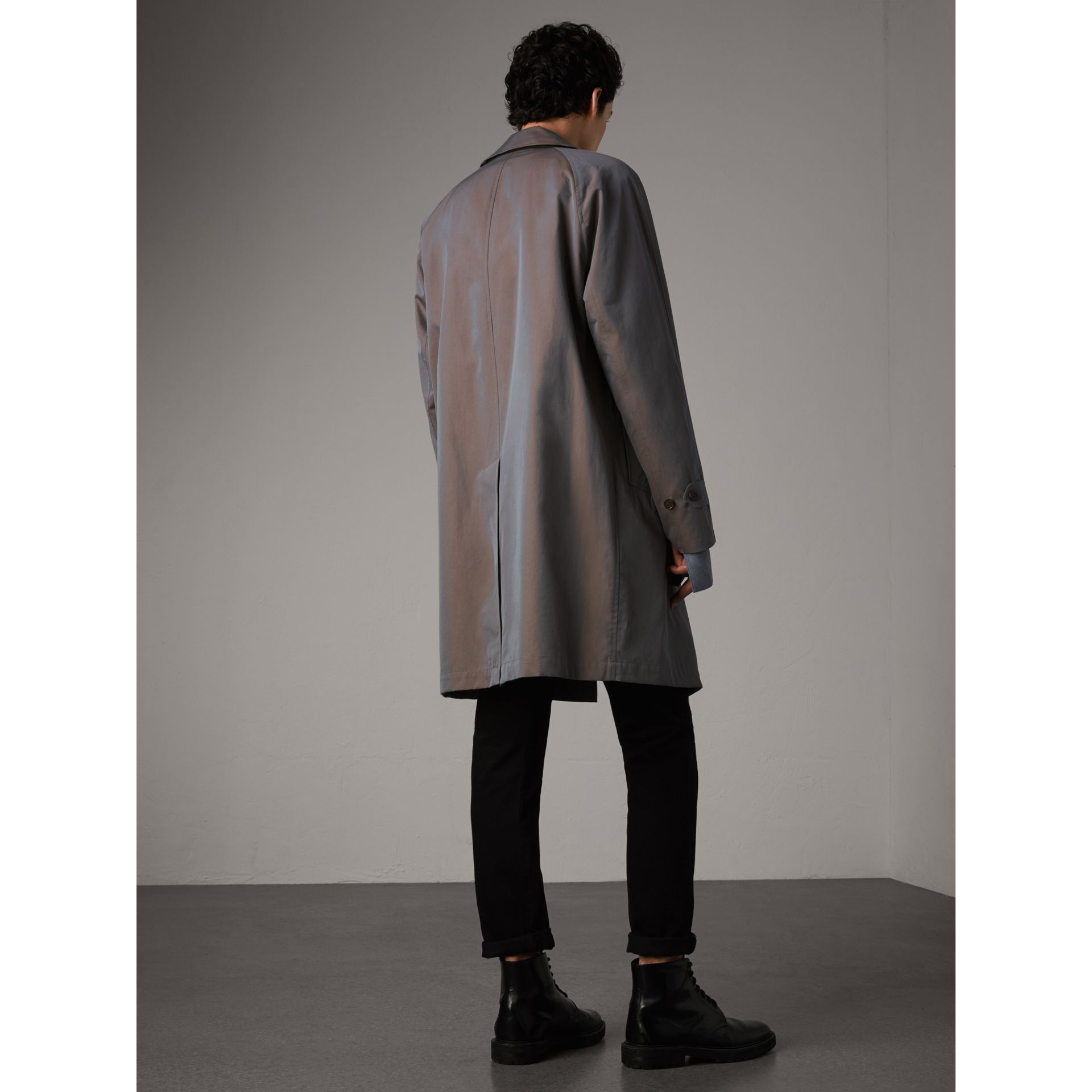 The Camden – Car Coat long (Gris Lilas) - Homme | Burberry - photo de la galerie 3